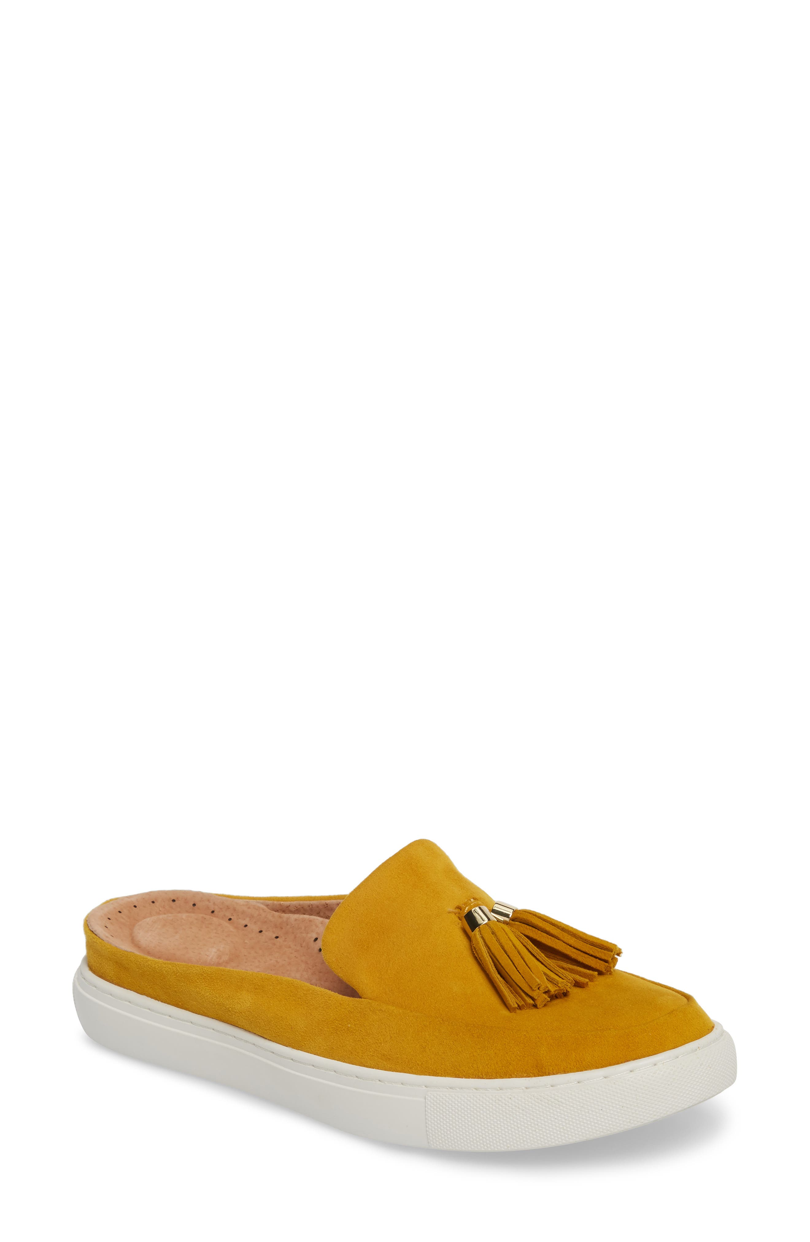 by Kenneth Cole Rory Loafer Mule Sneaker,                             Main thumbnail 1, color,                             MARIGOLD SUEDE