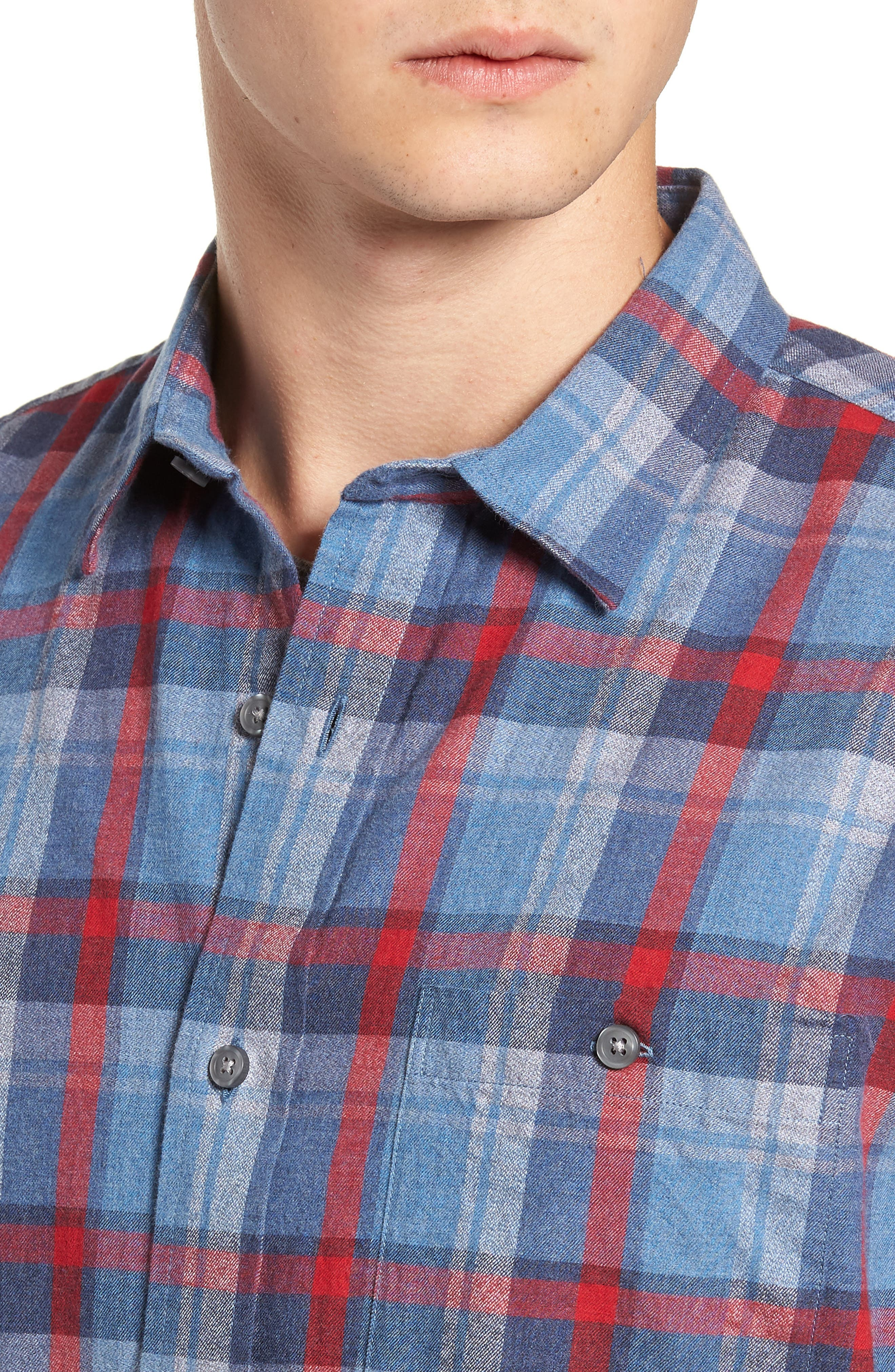 Jasper Plaid Flannel Shirt,                             Alternate thumbnail 2, color,                             410