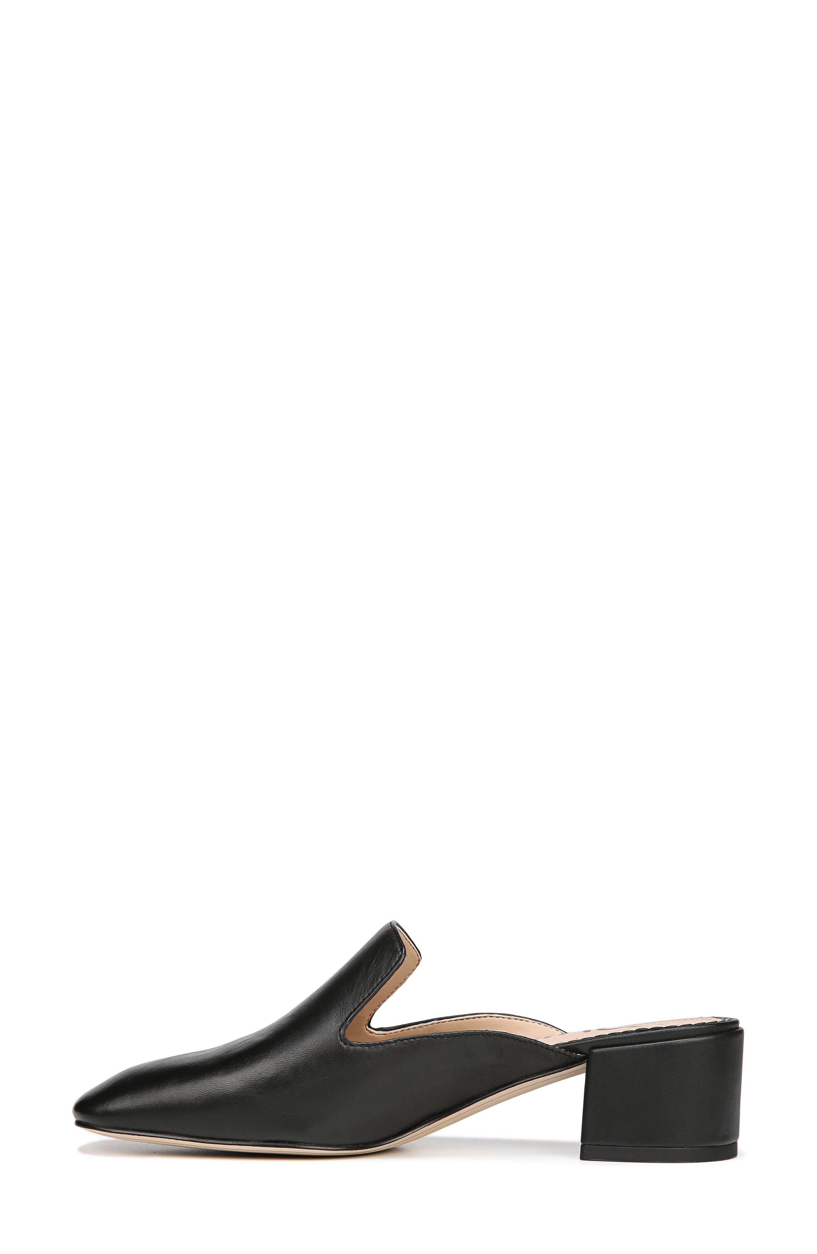 Adair Loafer Mule,                             Alternate thumbnail 7, color,                             BLACK LEATHER