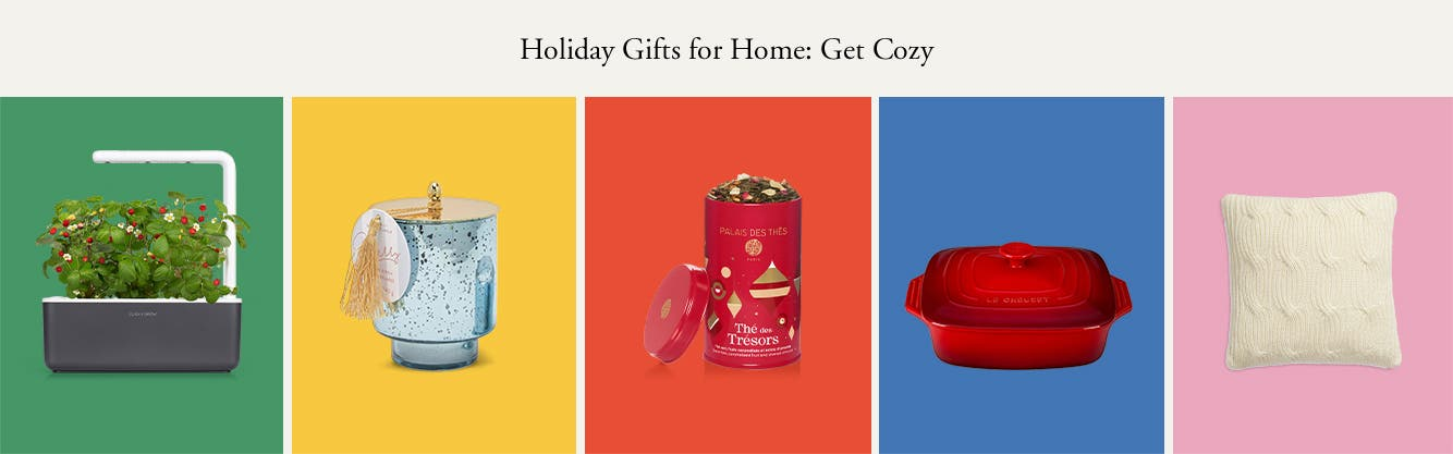 Holiday gifts for home: get cozy.