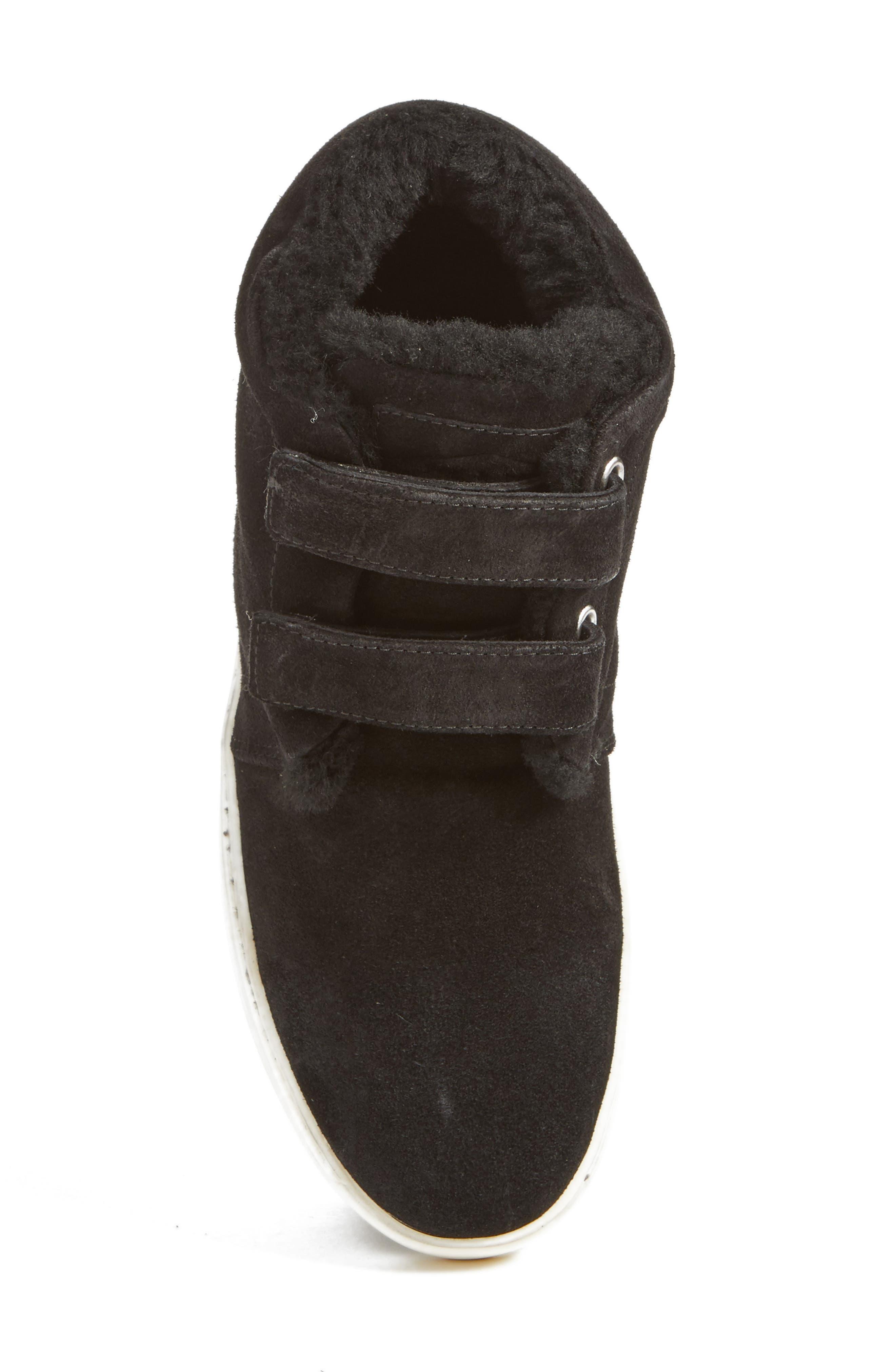 Kent Genuine Shearling Lined Sneaker,                             Alternate thumbnail 5, color,                             008
