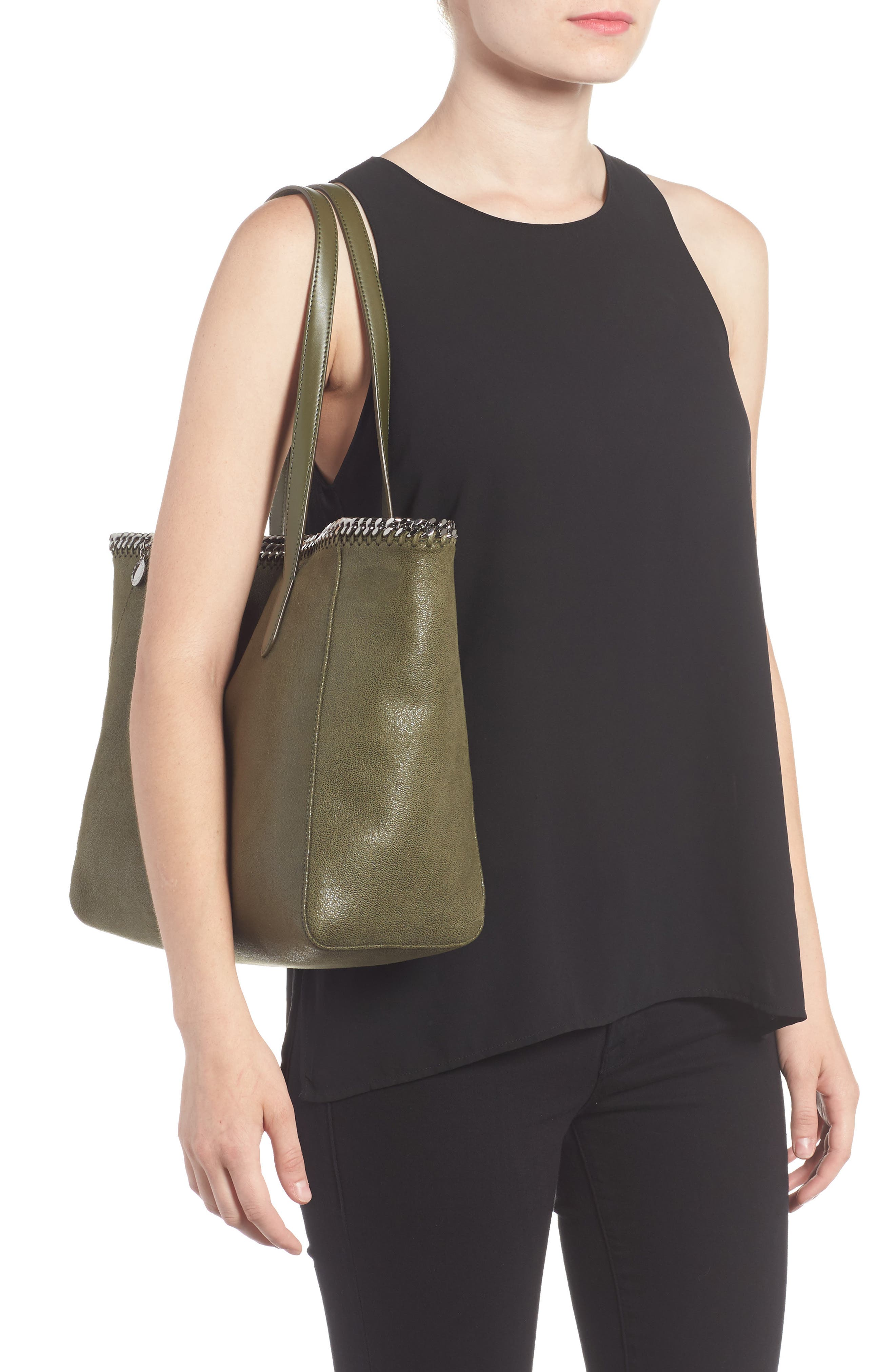 'Falabella - Shaggy Deer' Faux Leather Tote,                             Alternate thumbnail 8, color,