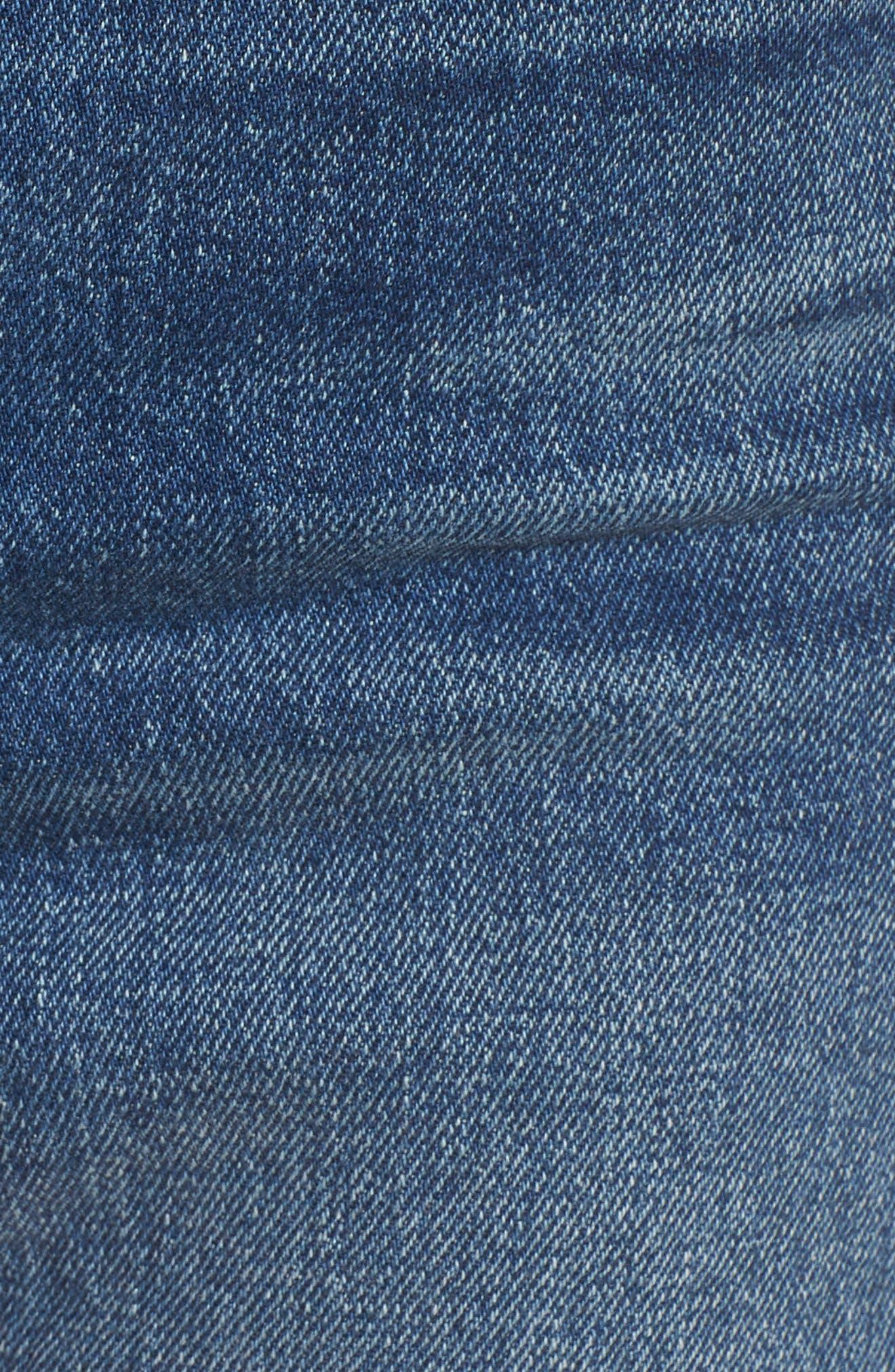 Wedgie Update Denim Shorts,                             Alternate thumbnail 6, color,                             401