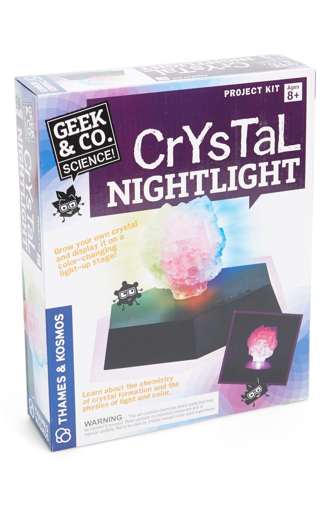 Crystal Nightlight Kit,                             Main thumbnail 1, color,                             PINK