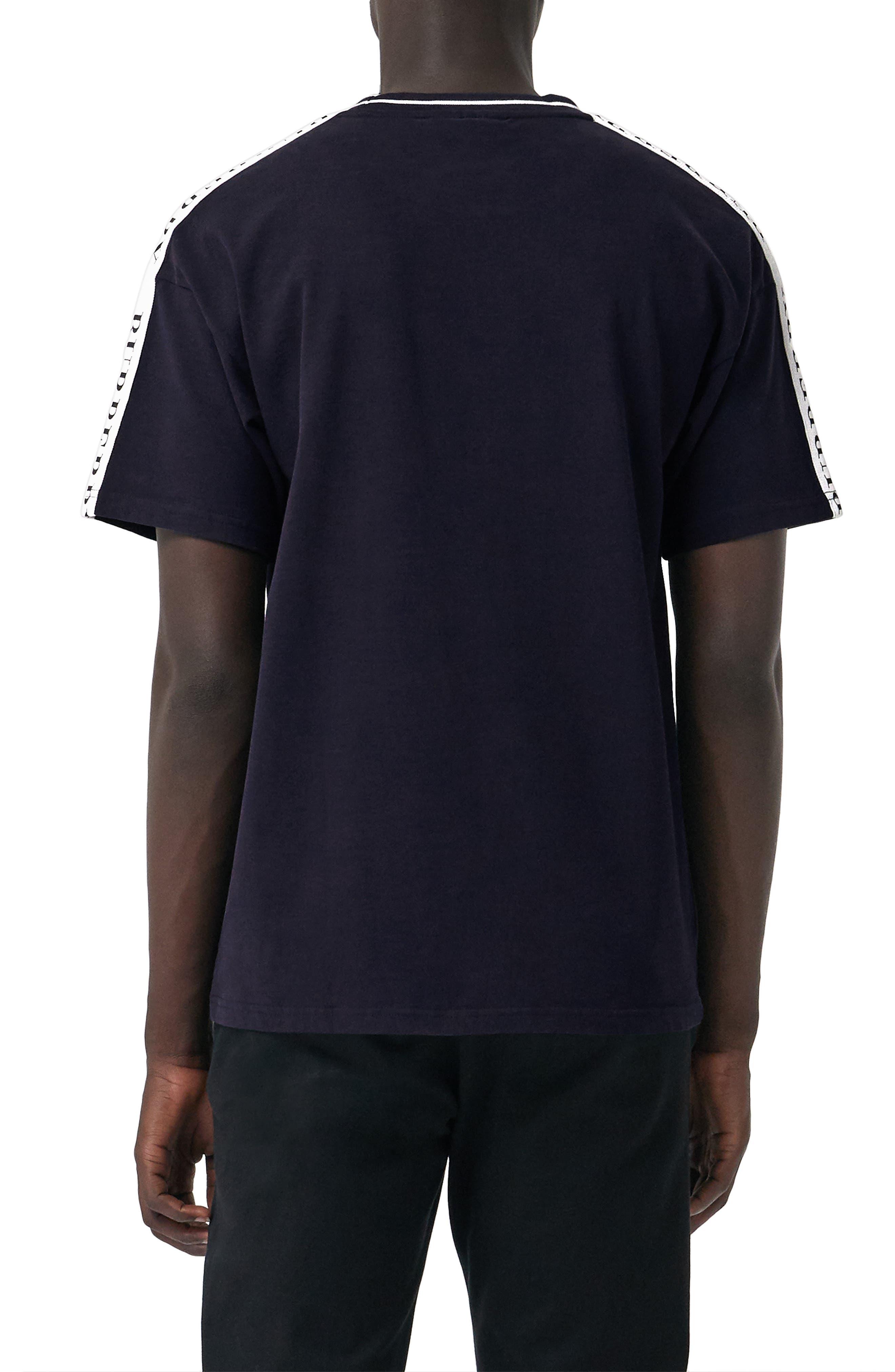 Roedon Tape T-Shirt,                             Alternate thumbnail 2, color,                             DARK NAVY