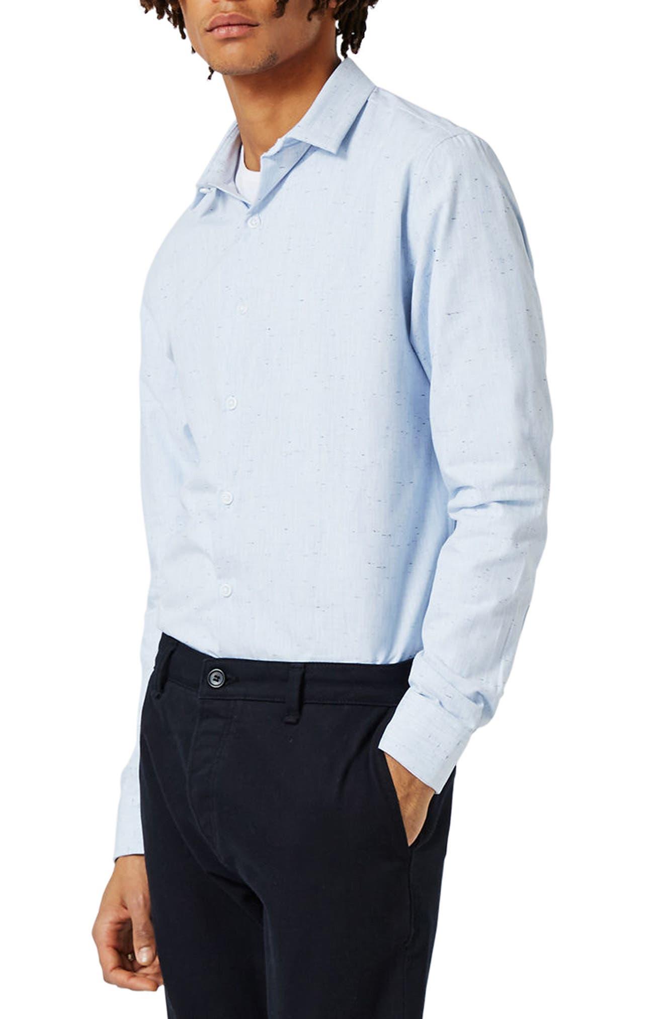 Slim Fit Nep Shirt,                         Main,                         color, 400