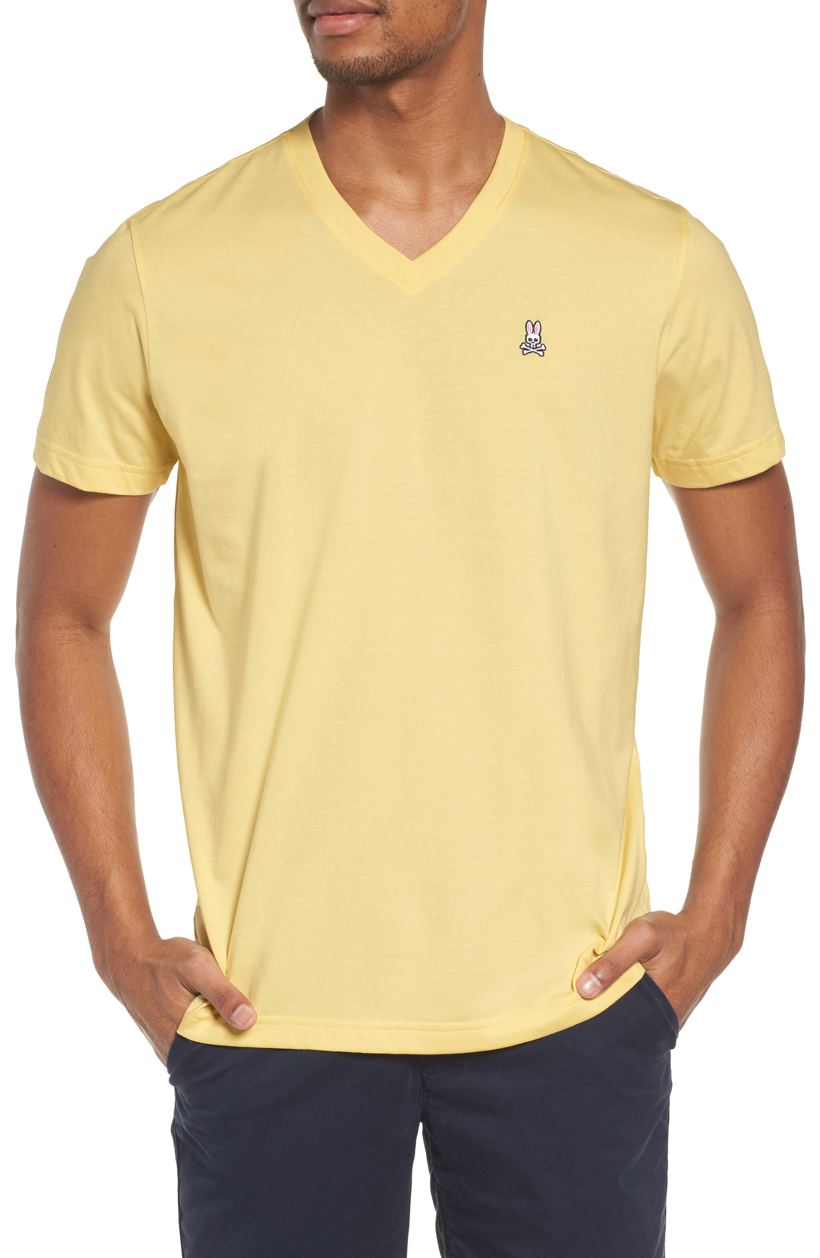 V-Neck T-Shirt,                             Main thumbnail 1, color,                             BANANA