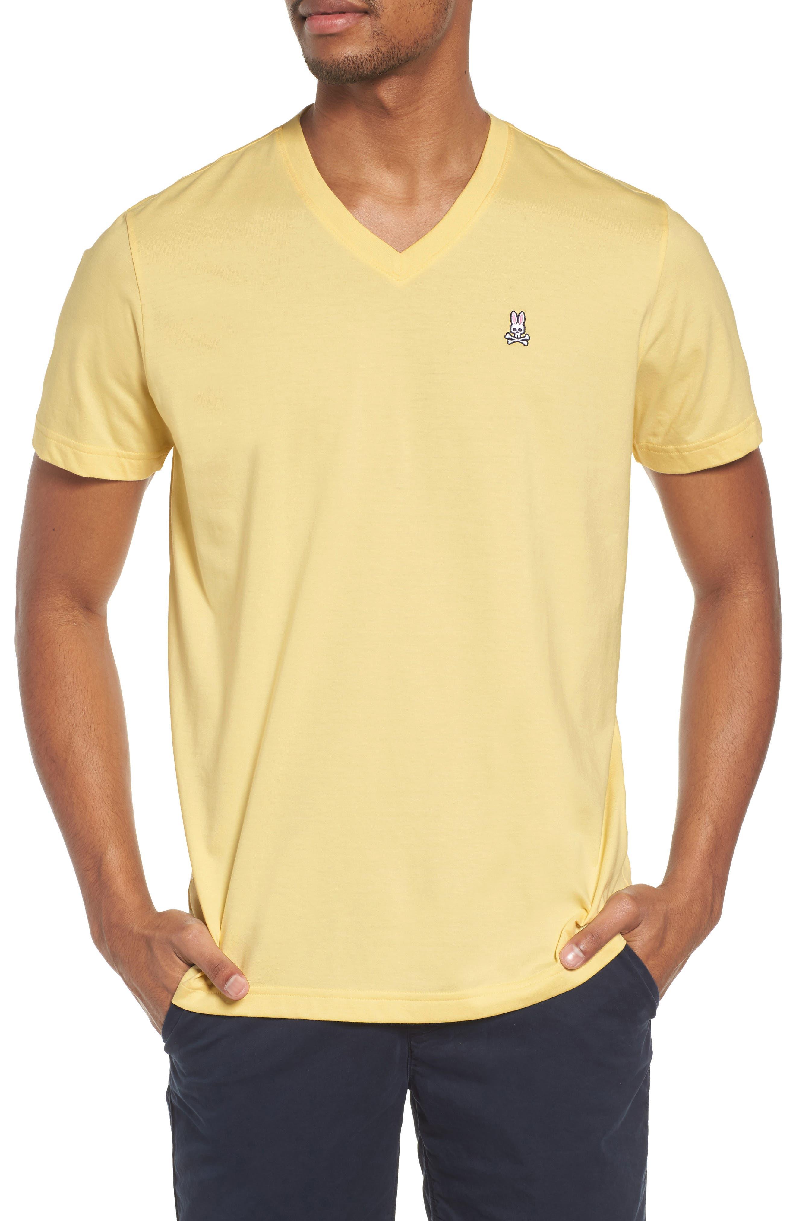 V-Neck T-Shirt,                         Main,                         color, BANANA