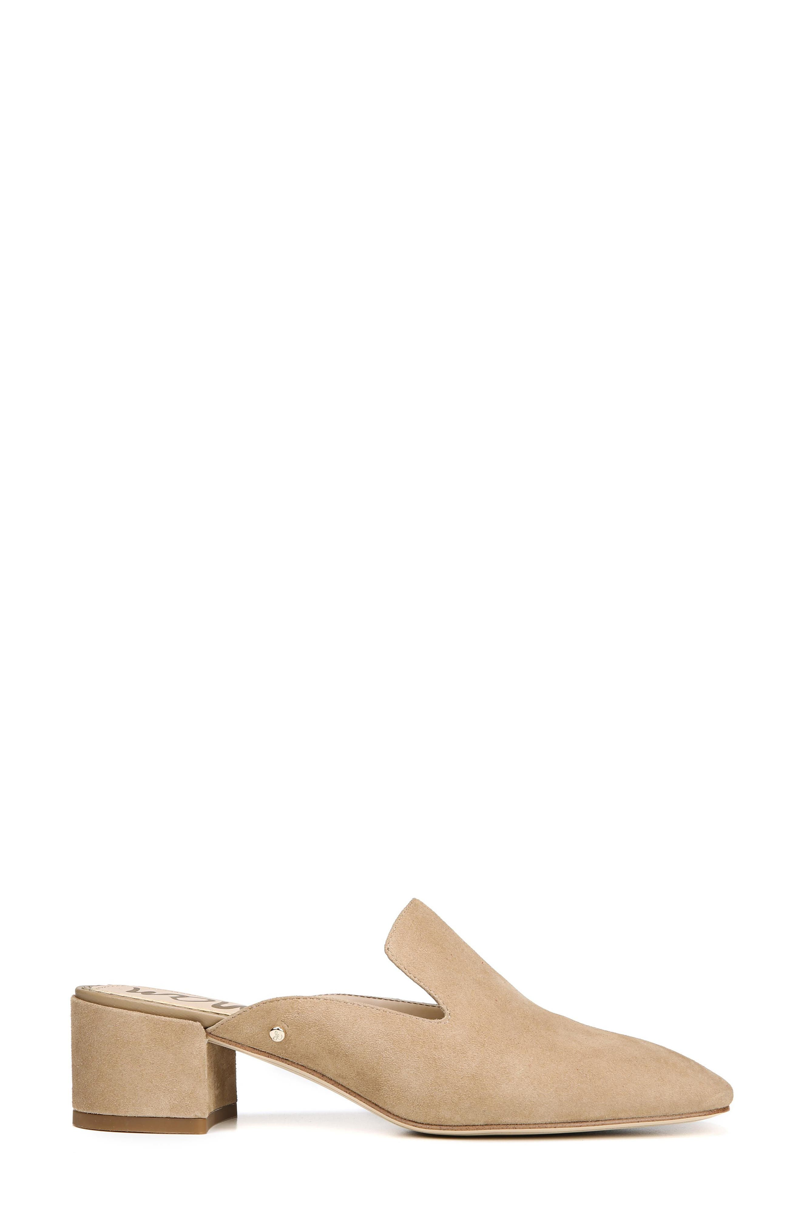 Adair Loafer Mule,                             Alternate thumbnail 3, color,                             OATMEAL LEATHER
