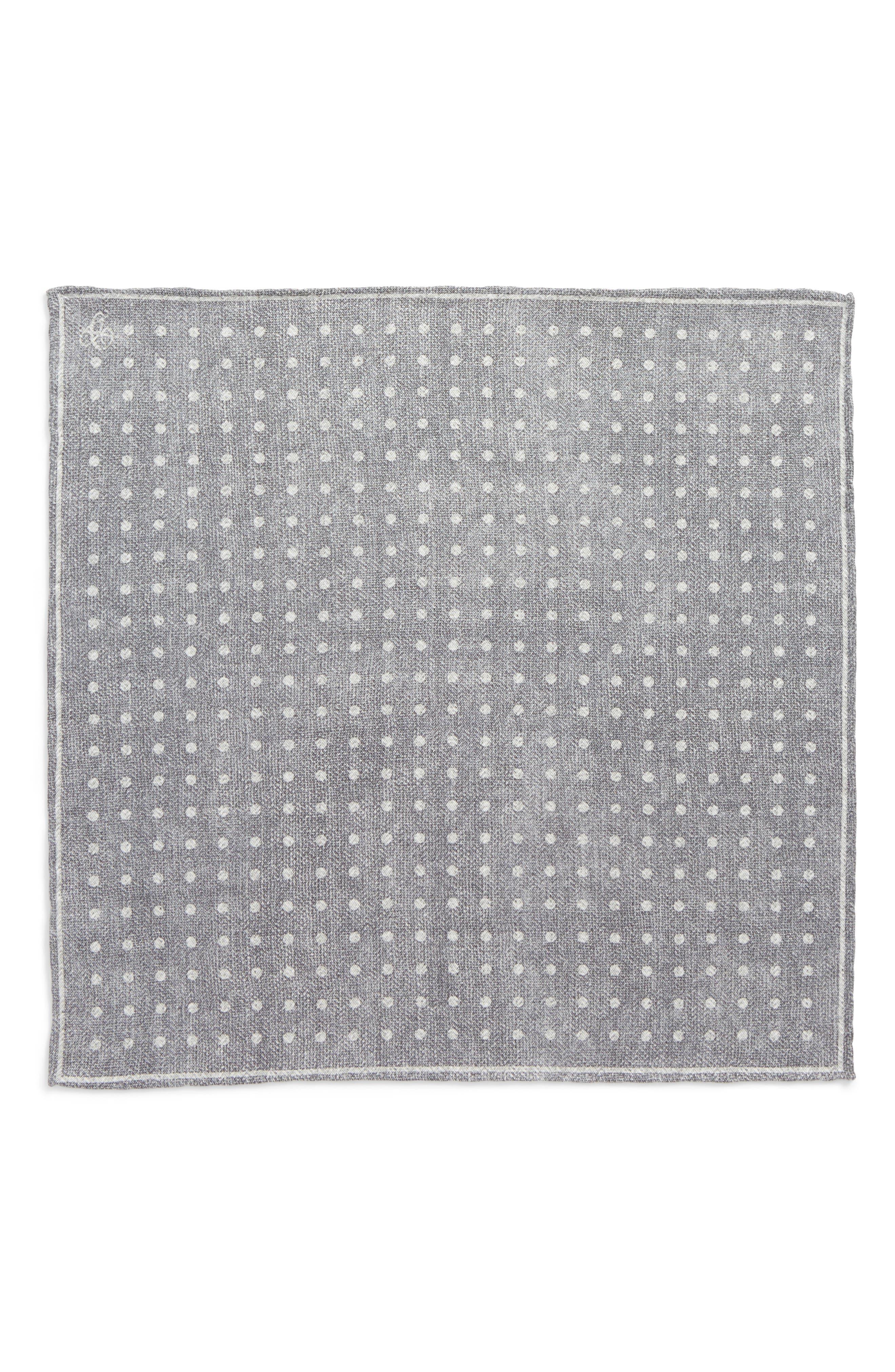 Dot Silk Pocket Square,                             Alternate thumbnail 2, color,                             020