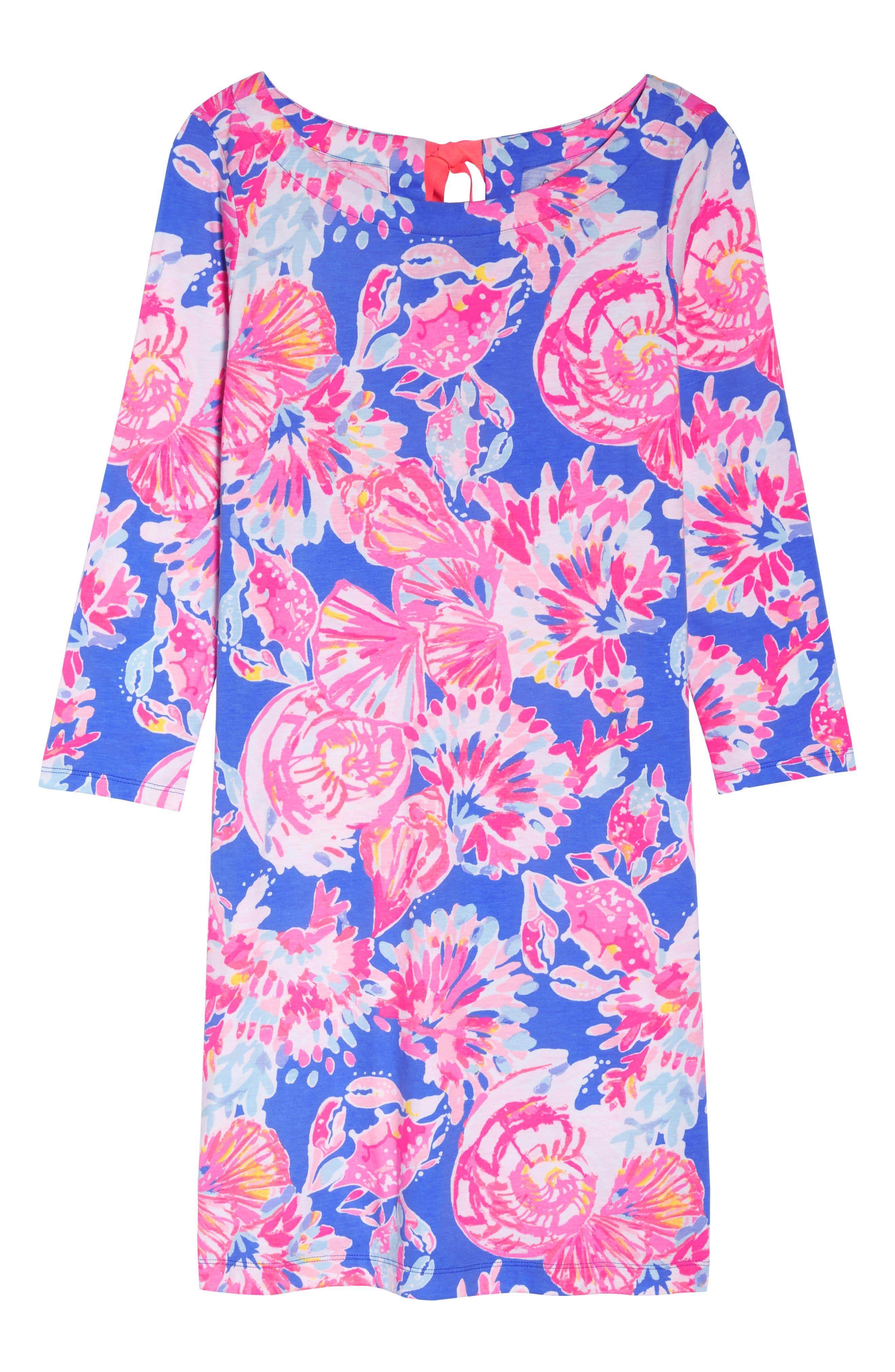 Noelle Floral Shift Dress,                             Alternate thumbnail 7, color,                             650