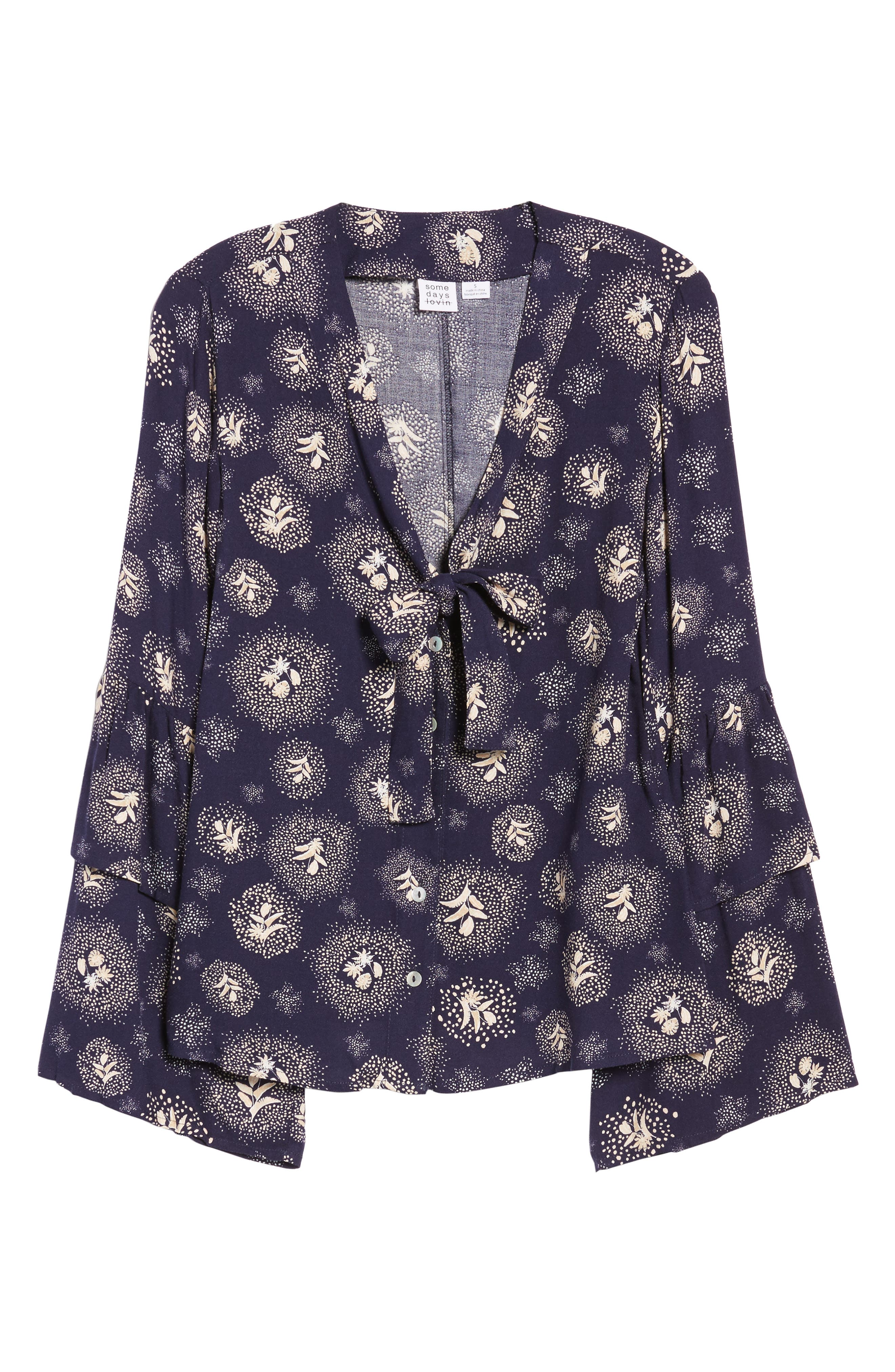 Glimmering Nights Blouse,                             Alternate thumbnail 6, color,