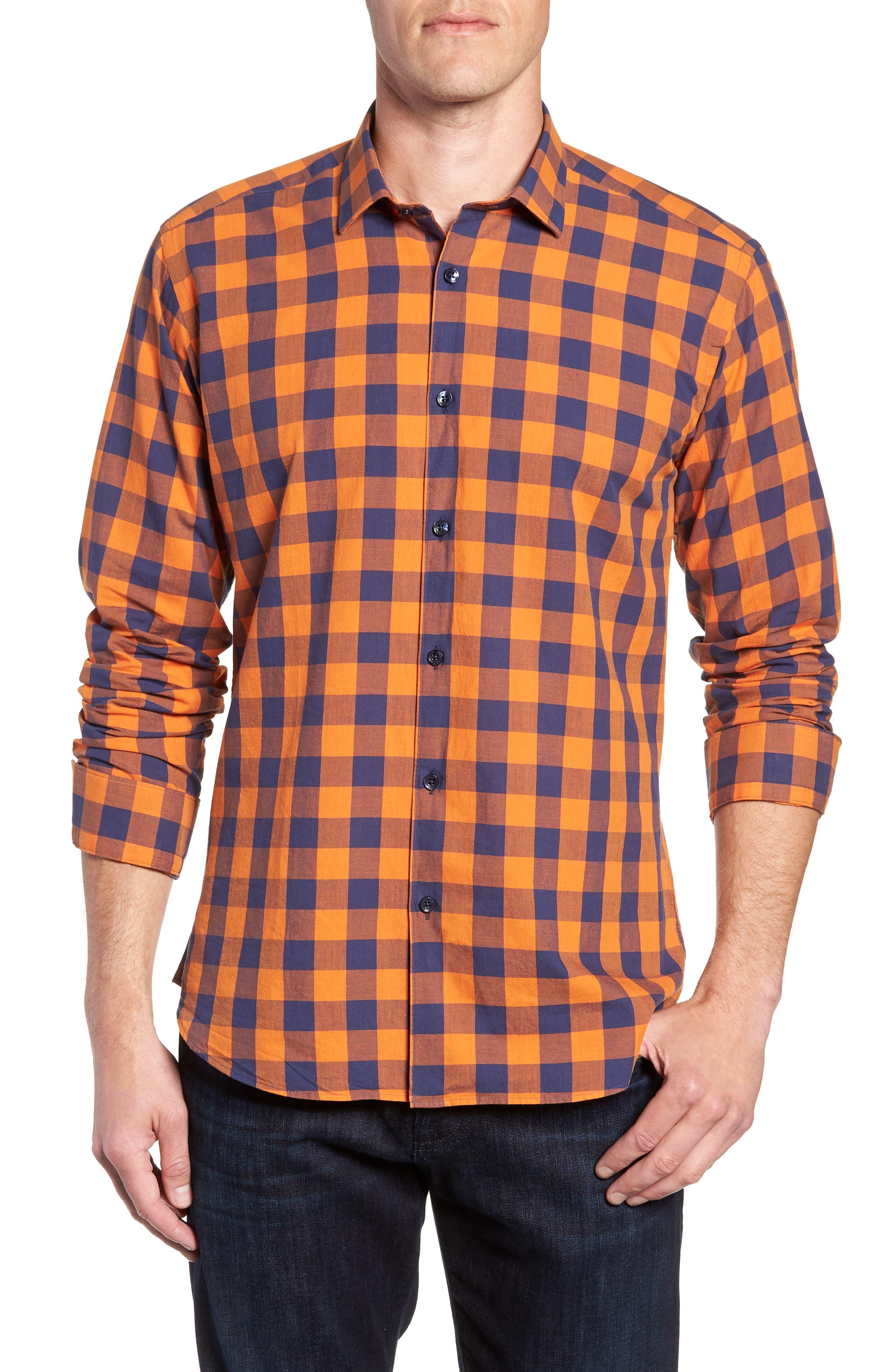 Trim Fit Sport Shirt,                         Main,                         color, 800