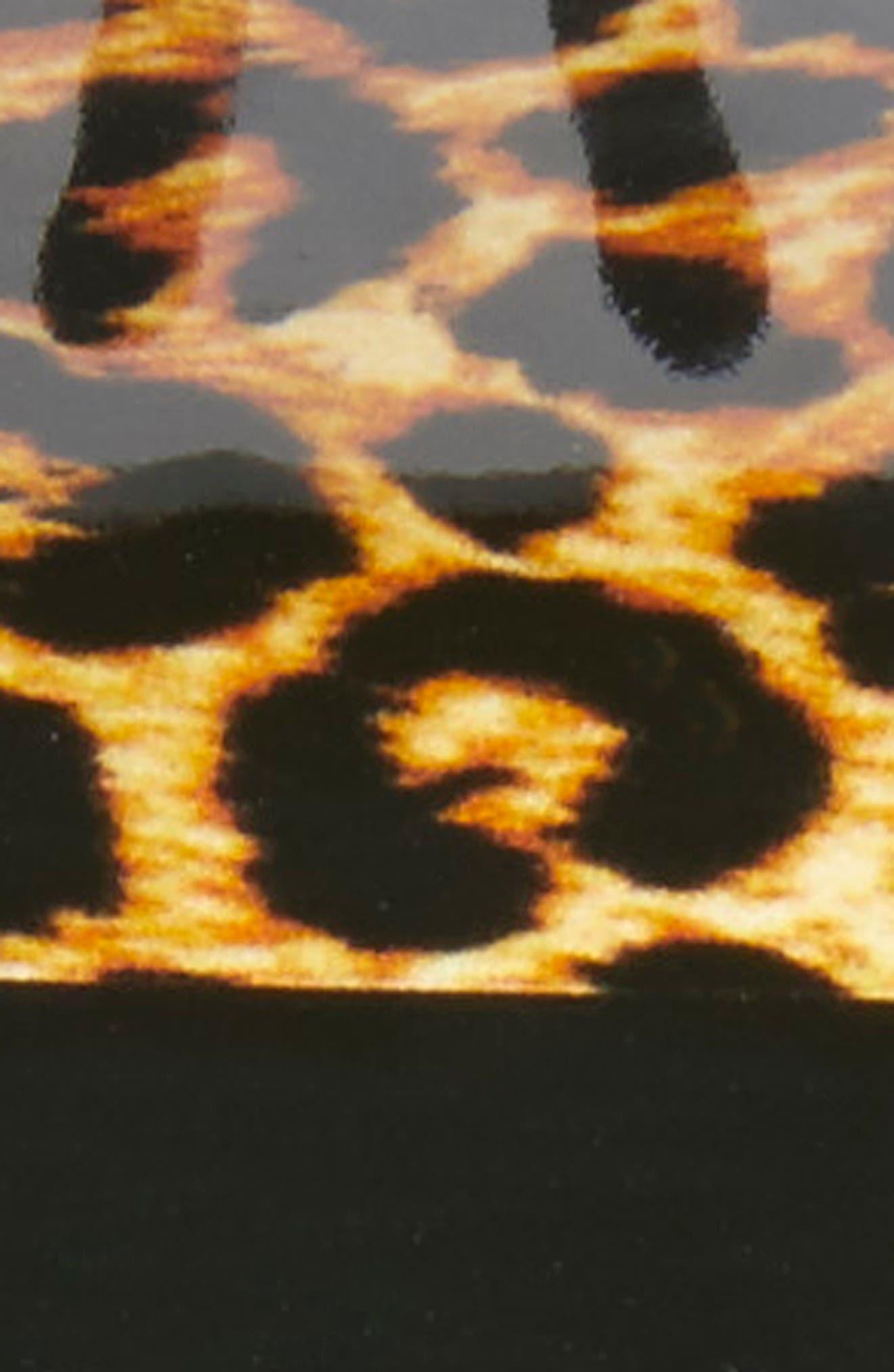 Vendome Leopard Print Hair Clip,                             Alternate thumbnail 7, color,