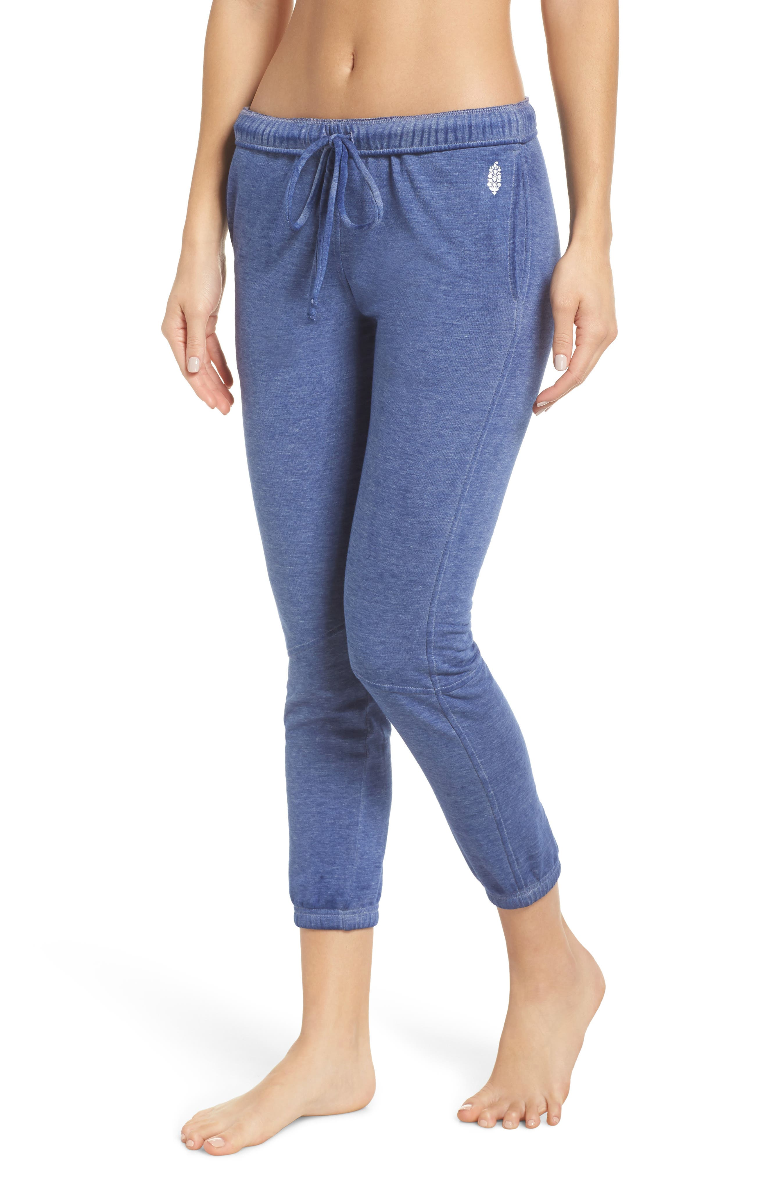 Free People FP Movement Zuma Crop Jogger Pants, Main, color, BLUE