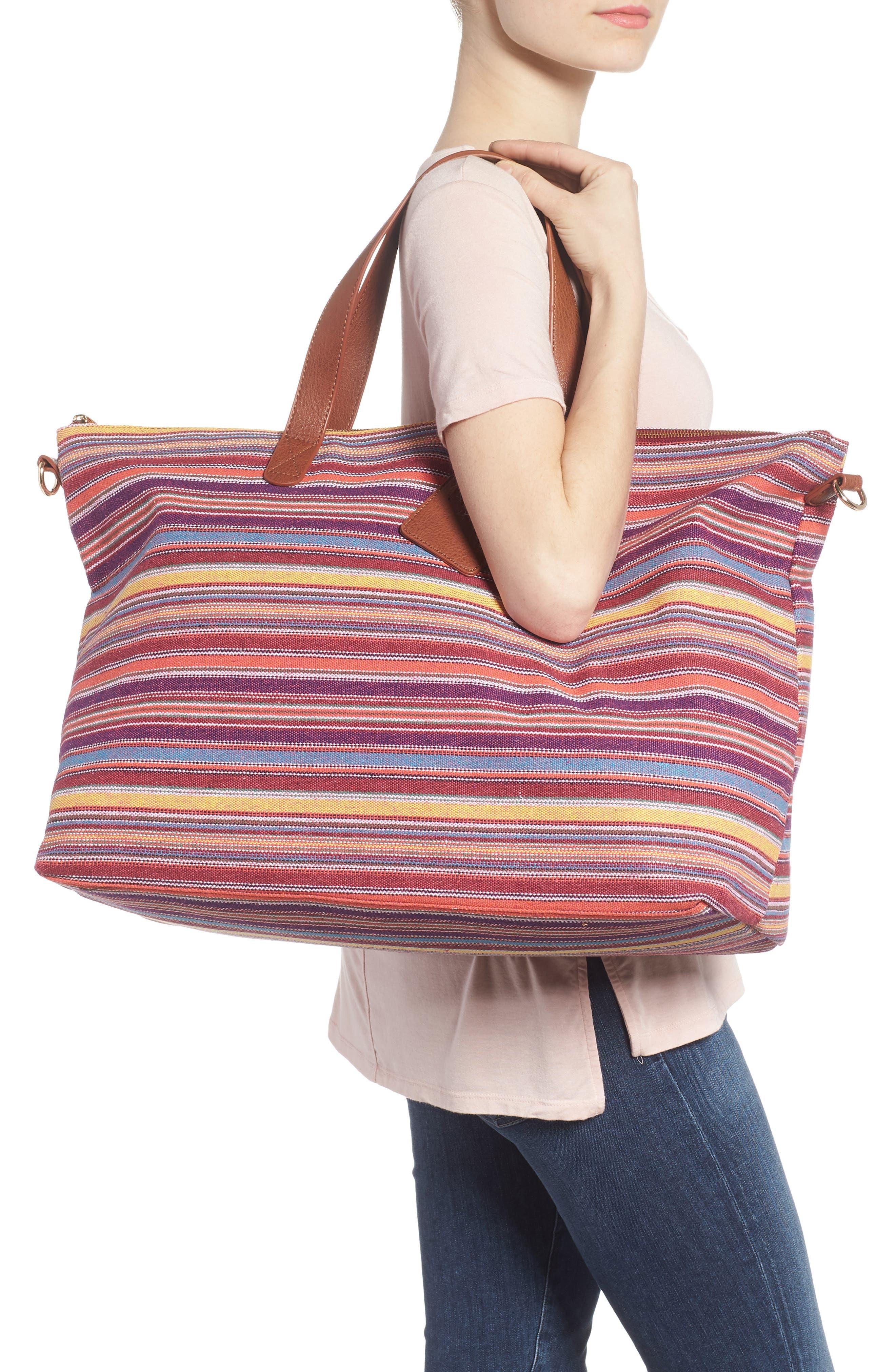 Stripe Woven Overnight Bag,                             Alternate thumbnail 2, color,                             500