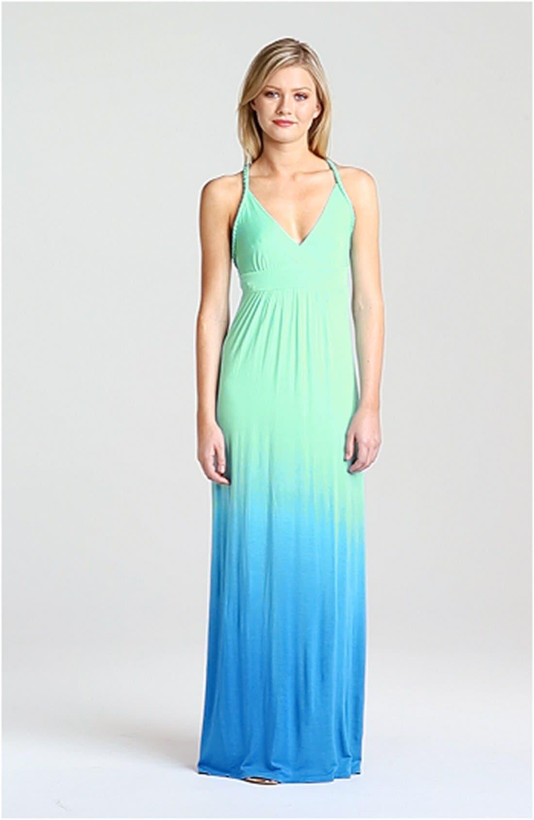 Ombré Jersey Maxi Dress,                             Alternate thumbnail 3, color,                             429