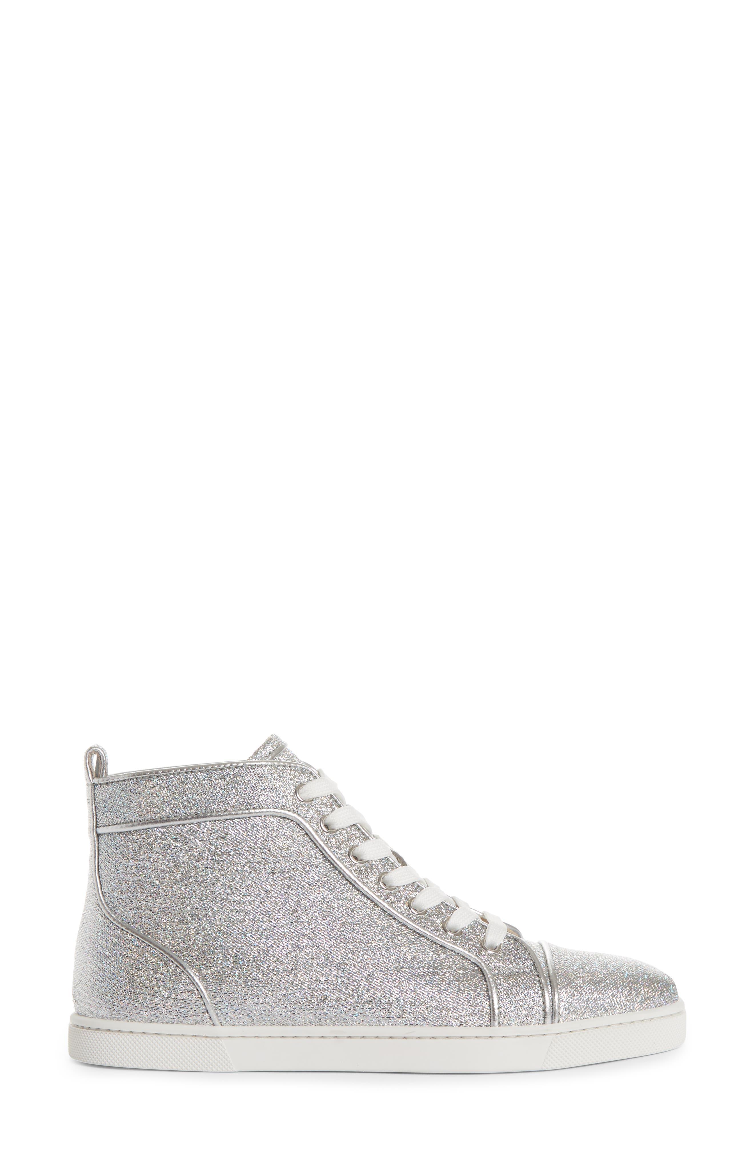 Orlato Metallic High Top Sneaker,                             Alternate thumbnail 3, color,                             040