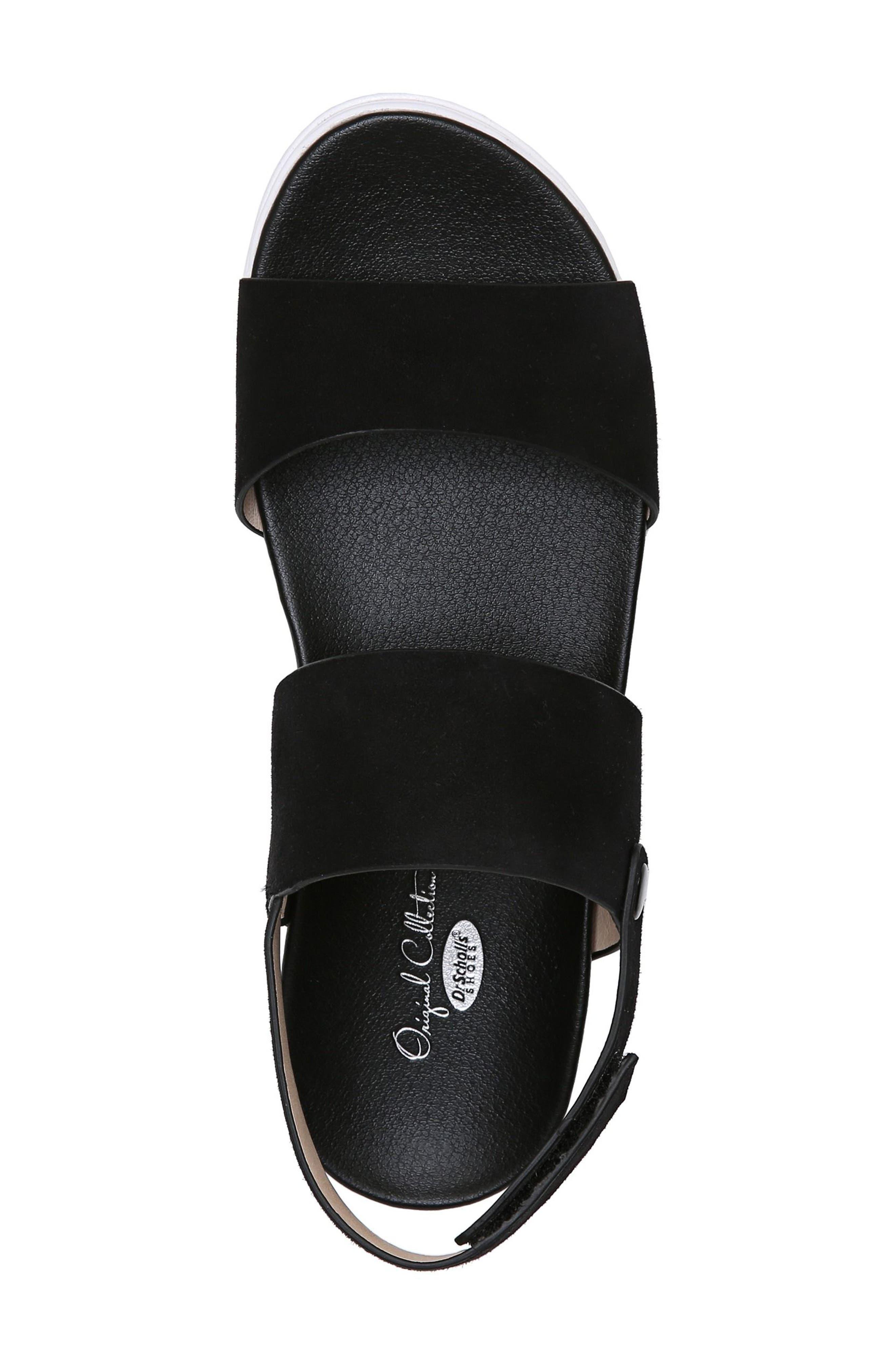 Scout Platform Sandal,                             Alternate thumbnail 5, color,                             BLACK SUEDE