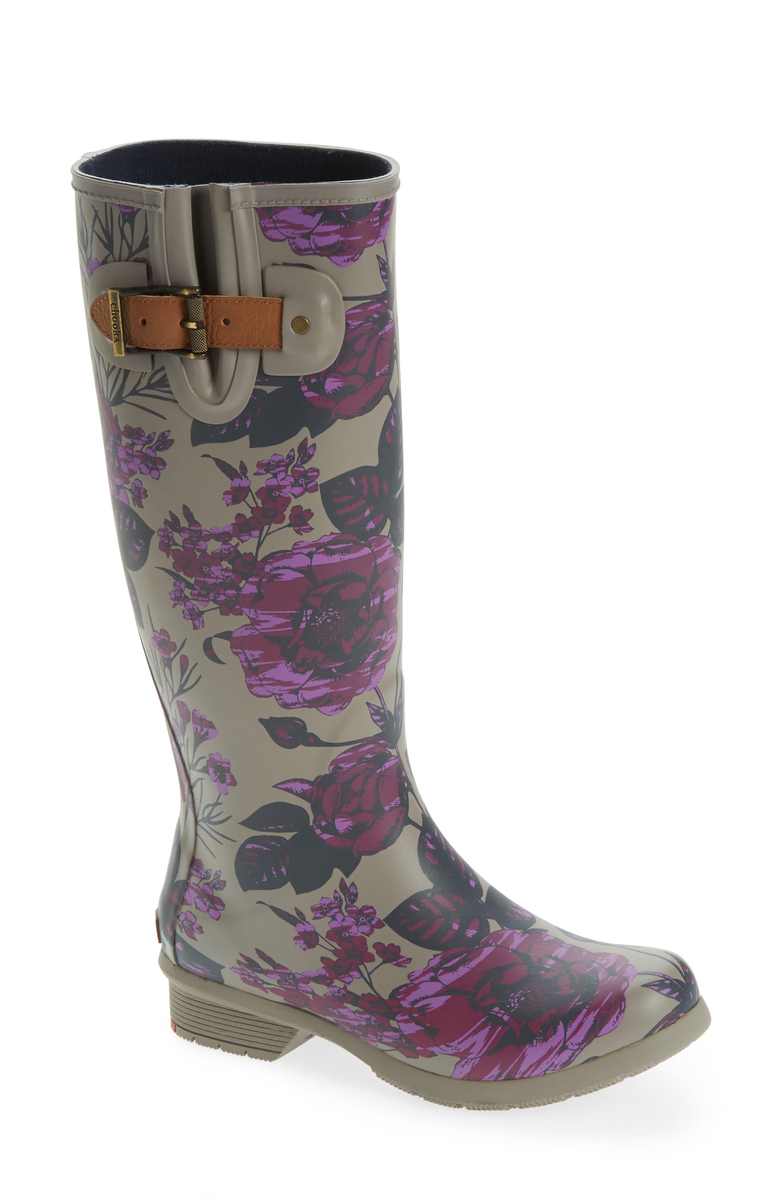 Hattie Tall Rain Boot,                             Main thumbnail 1, color,                             PLUM