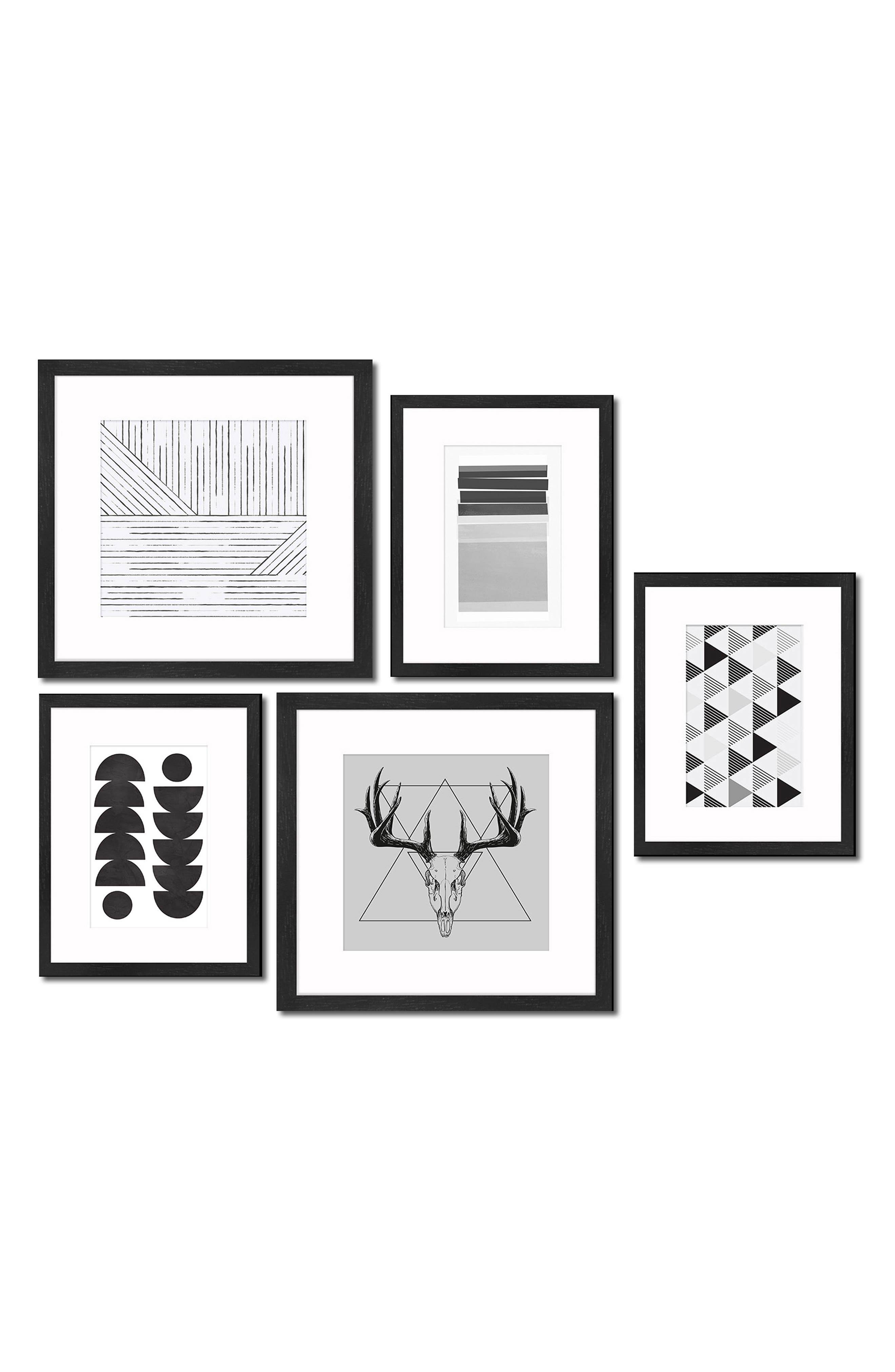 5-Piece Framed Wall Art Gallery,                             Main thumbnail 1, color,                             001