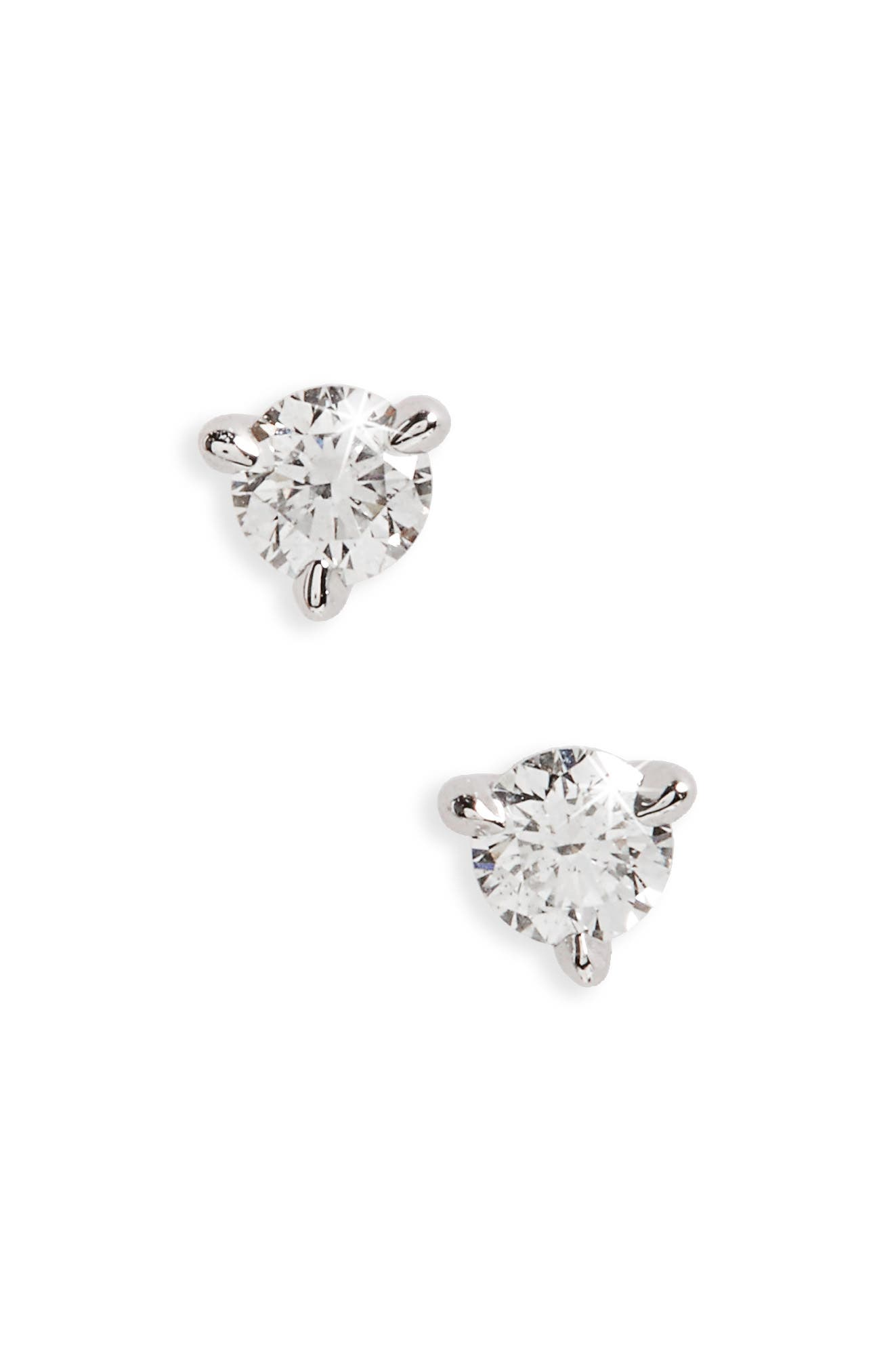 0.25ct tw Diamond & Platinum Stud Earrings,                             Alternate thumbnail 2, color,                             PLATINUM