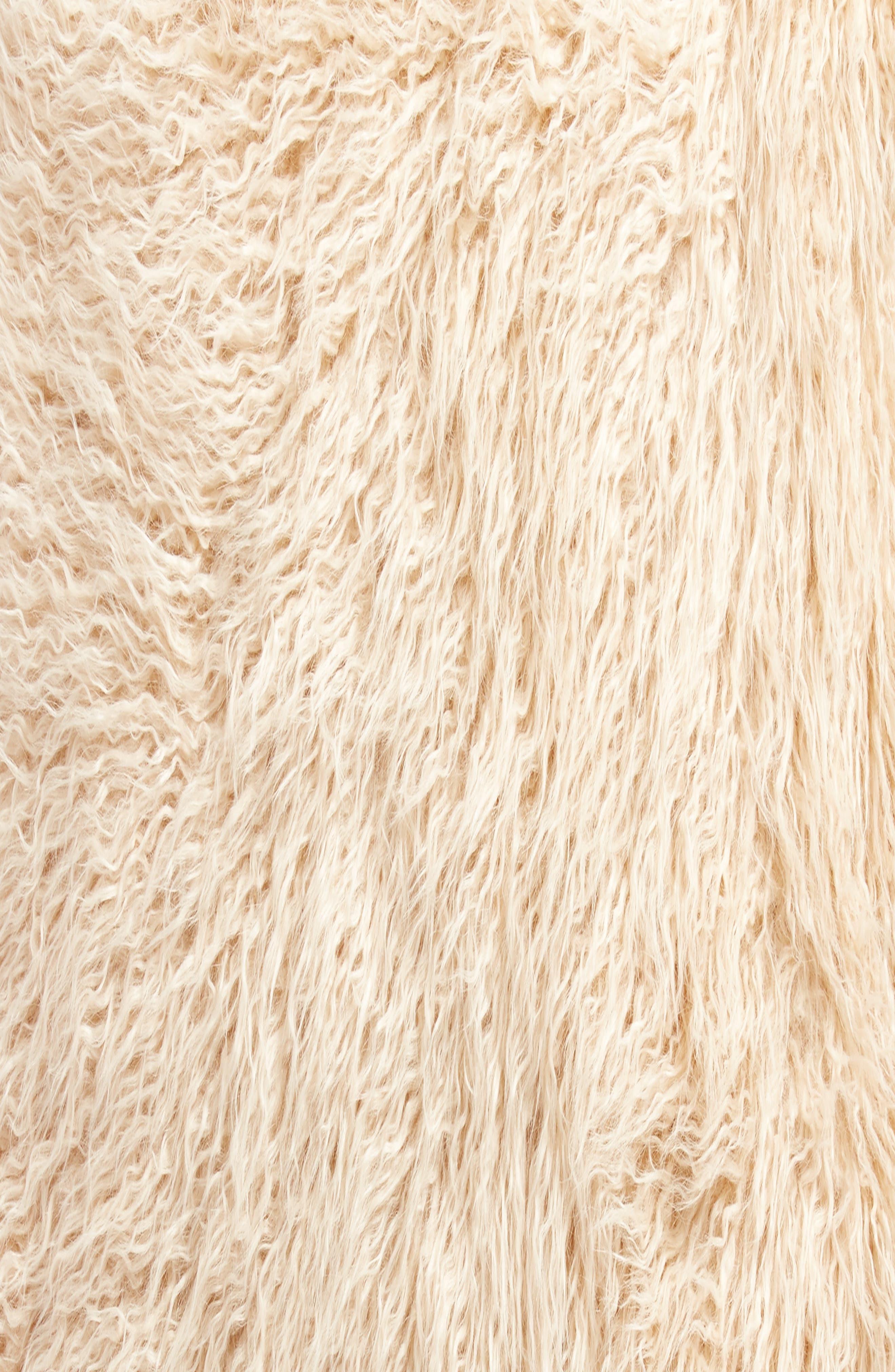 TREASURE & BOND,                             Curly Faux Fur Pillow,                             Alternate thumbnail 3, color,                             BEIGE BEACH