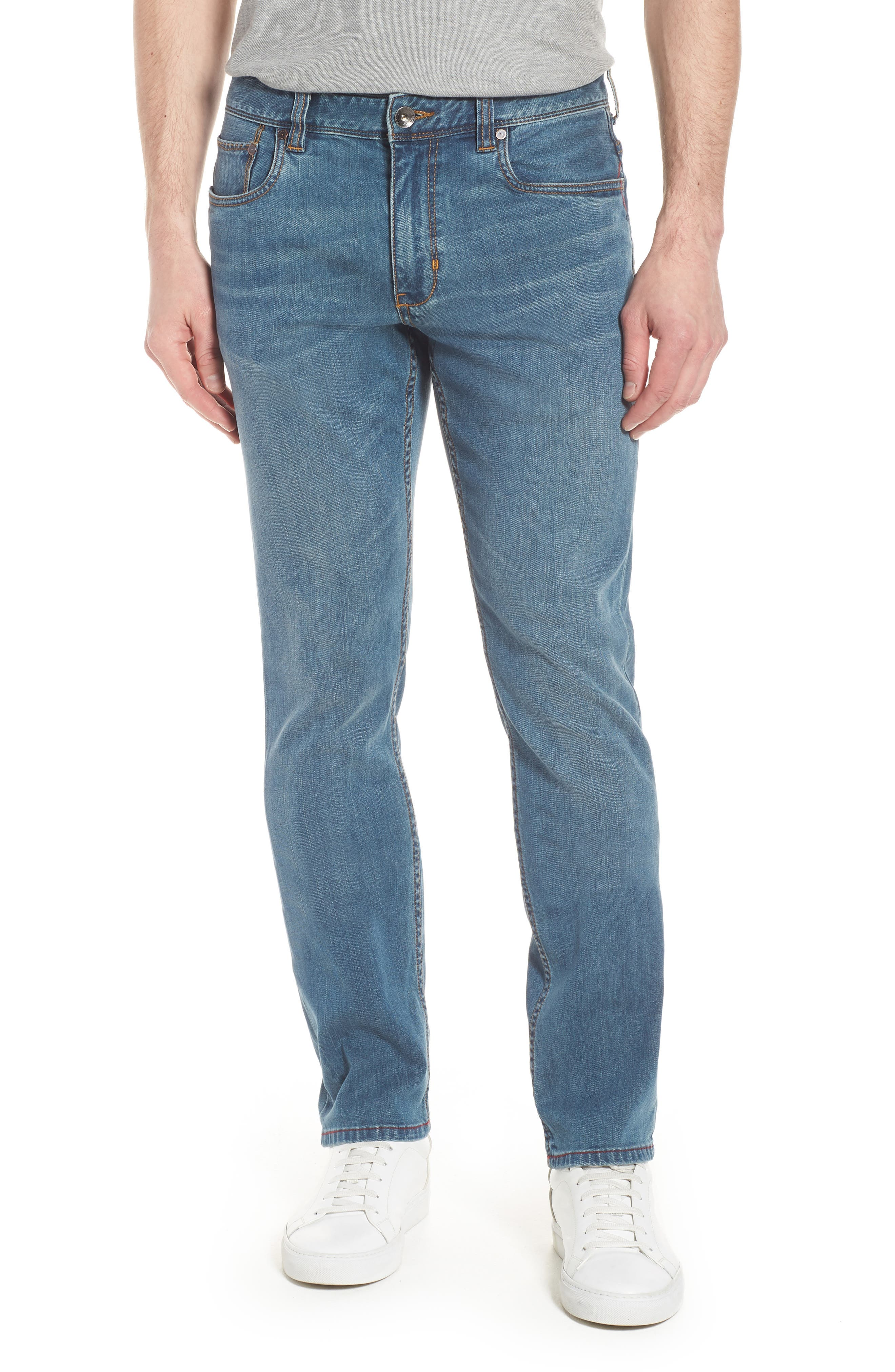Vintage Fit Jeans,                             Main thumbnail 1, color,                             VINTAGE WASH