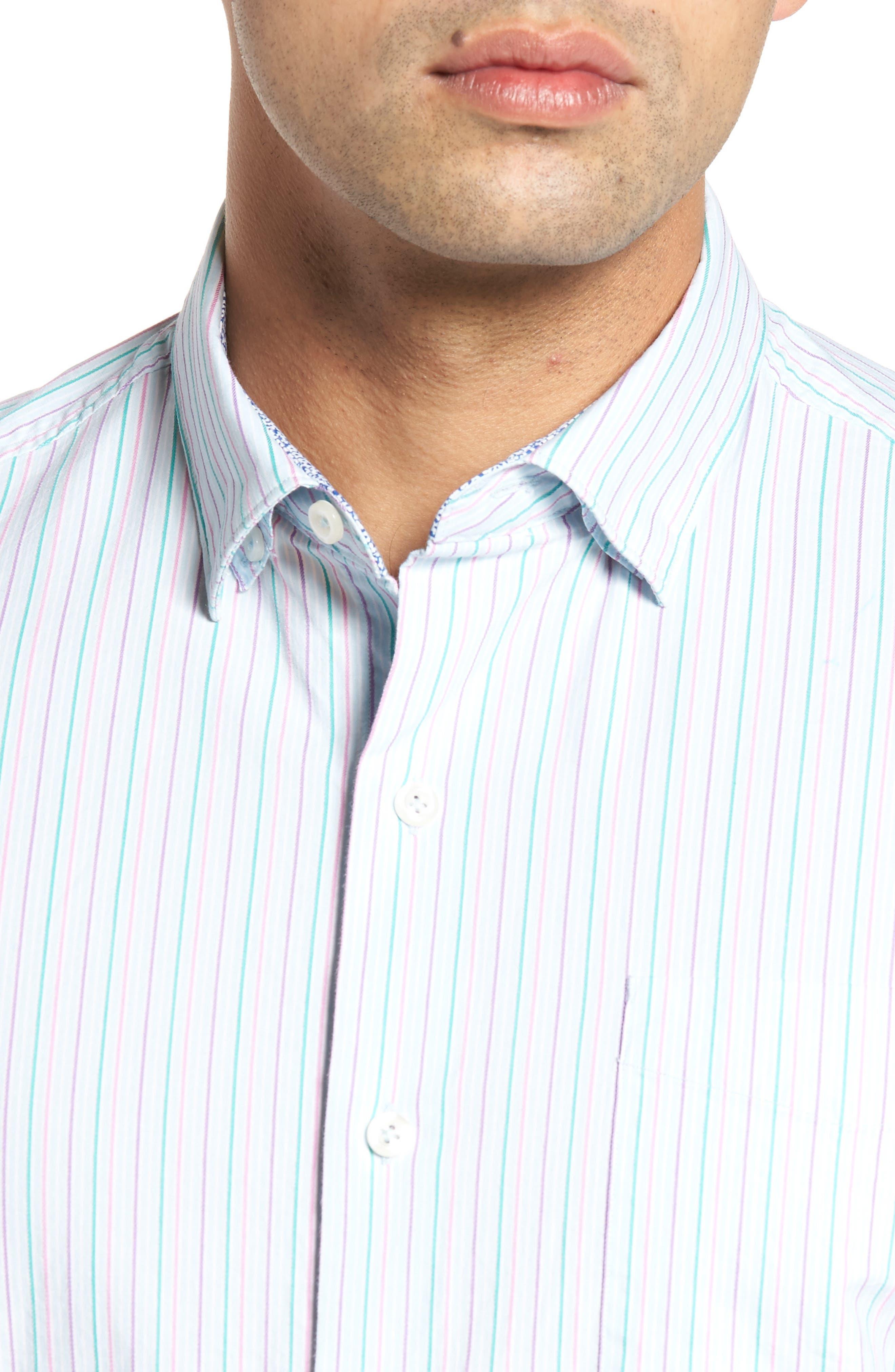 Tallahassee Cotton & Silk Blend Sport Shirt,                             Alternate thumbnail 4, color,                             400