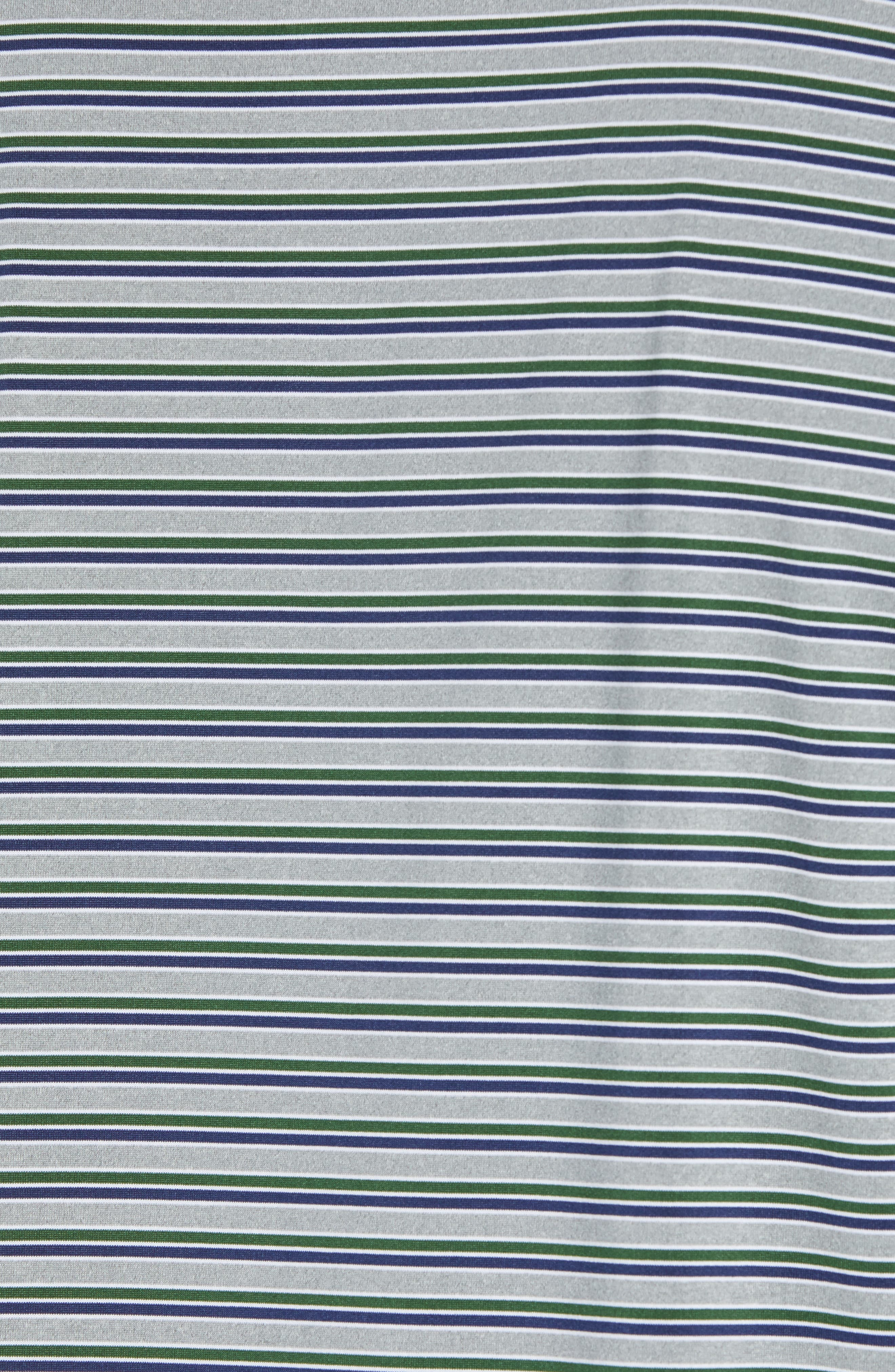 Rule 18 Stripe Tech Jersey Polo,                             Alternate thumbnail 5, color,                             GREEN
