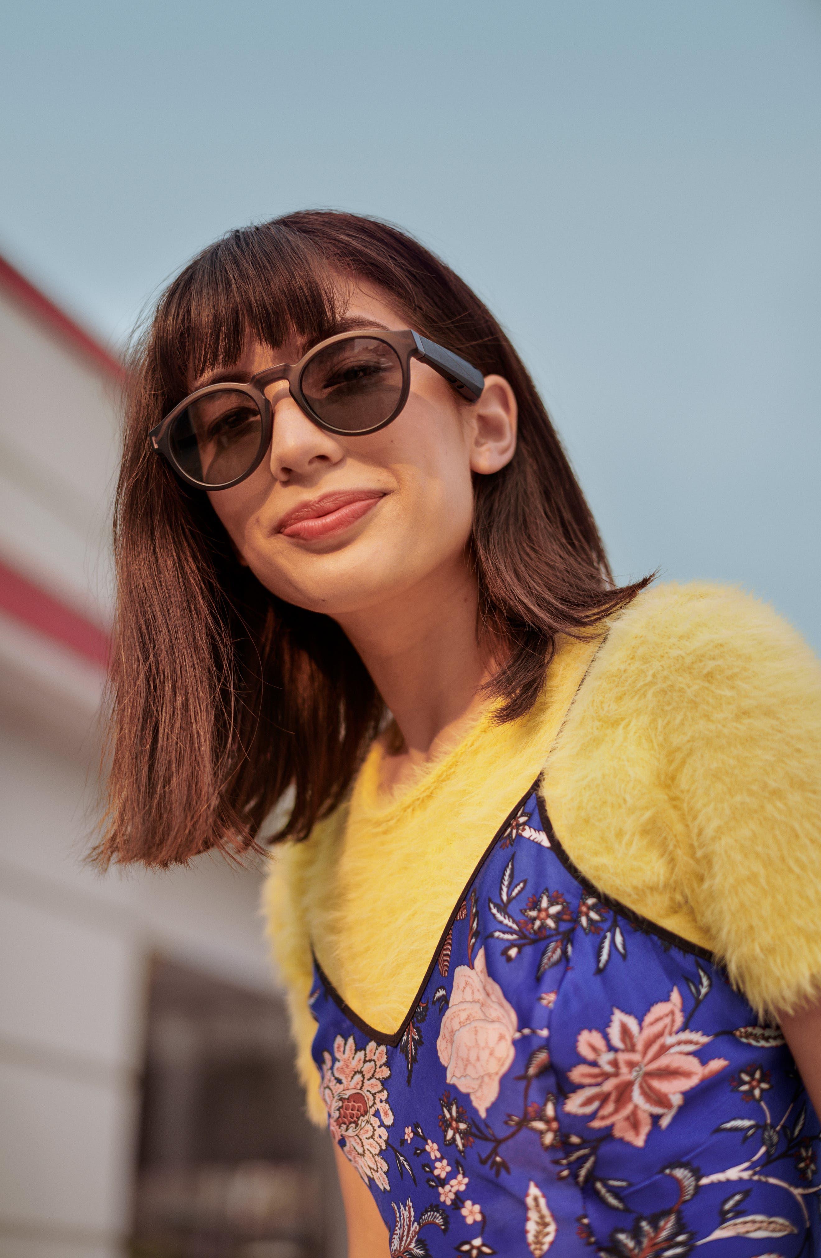 BOSE<SUP>®</SUP>,                             Frames Rondo 50mm Audio Sunglasses,                             Alternate thumbnail 5, color,                             BLACK