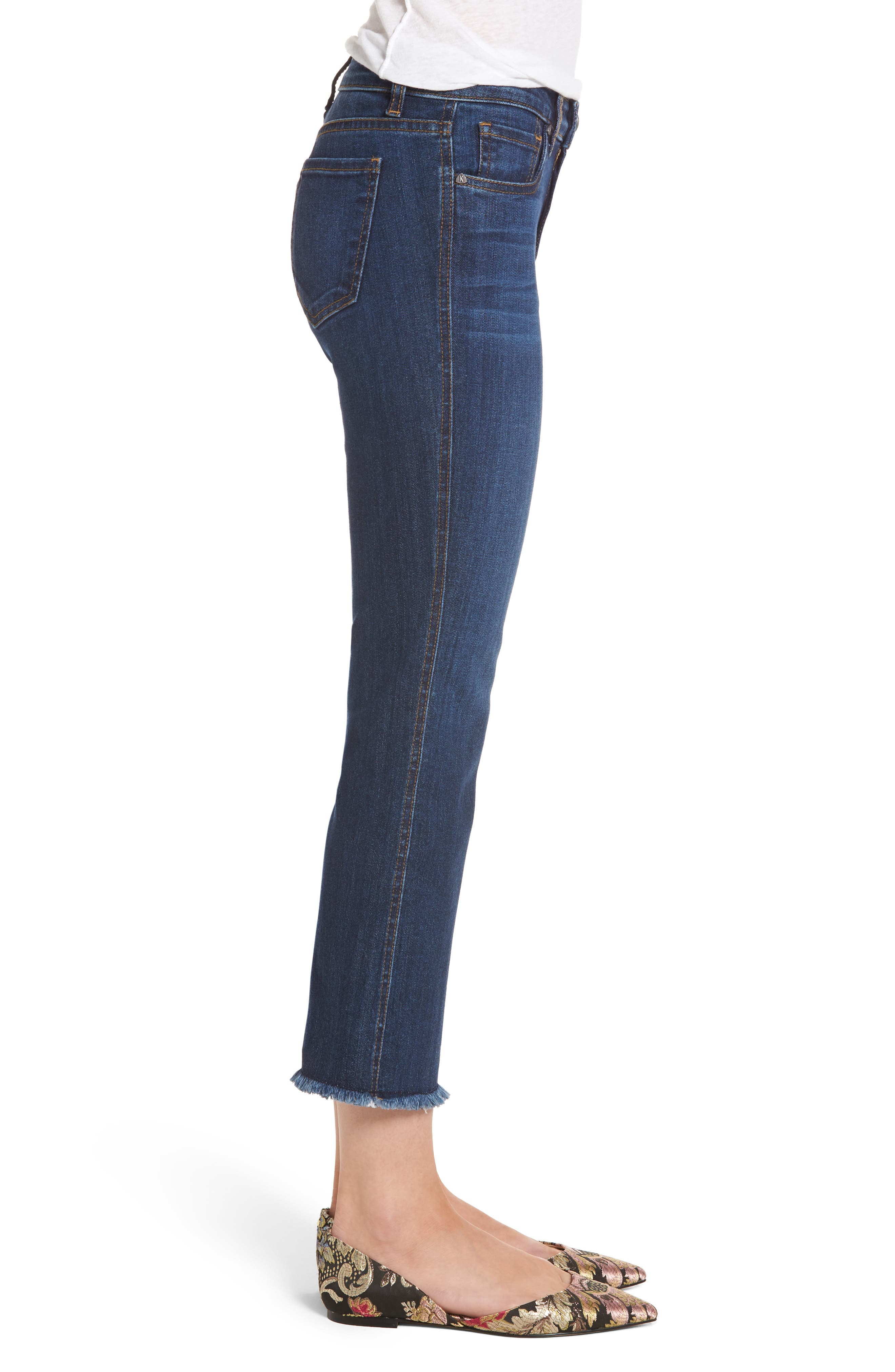 Reese Frayed Ankle Jeans,                             Alternate thumbnail 3, color,                             414