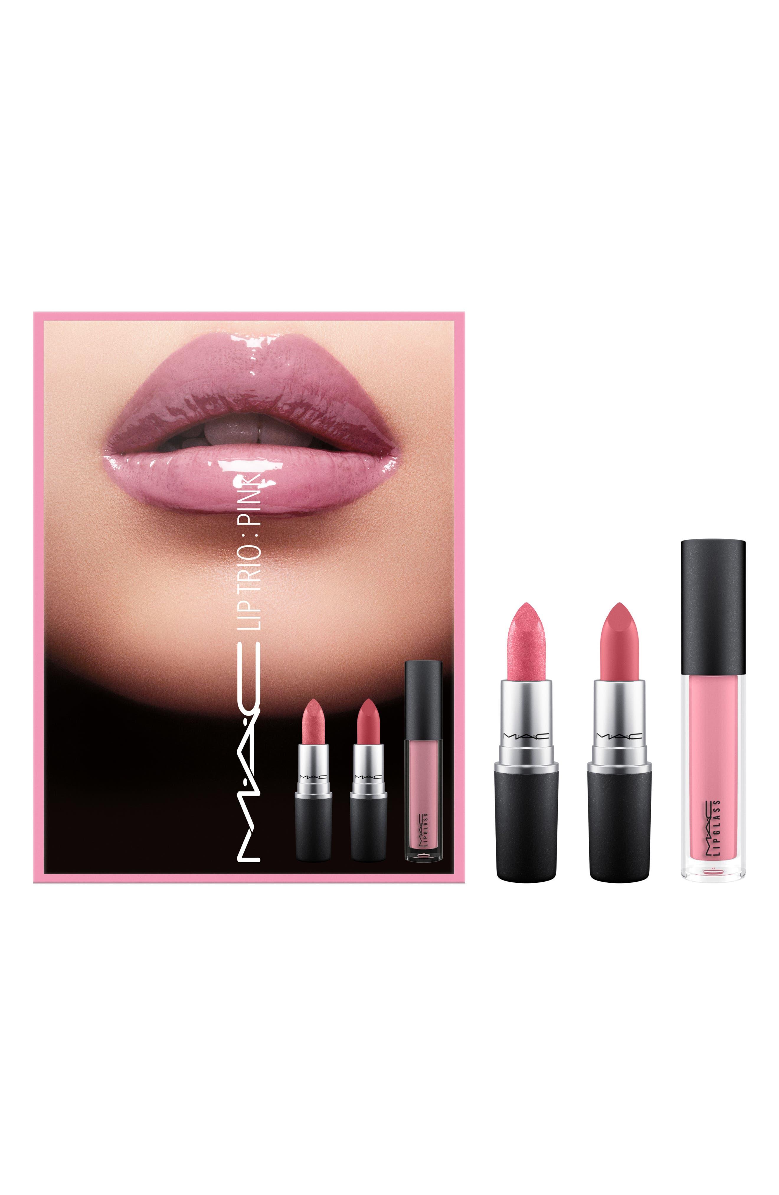 MAC Pink Lip Trio,                         Main,                         color, 000