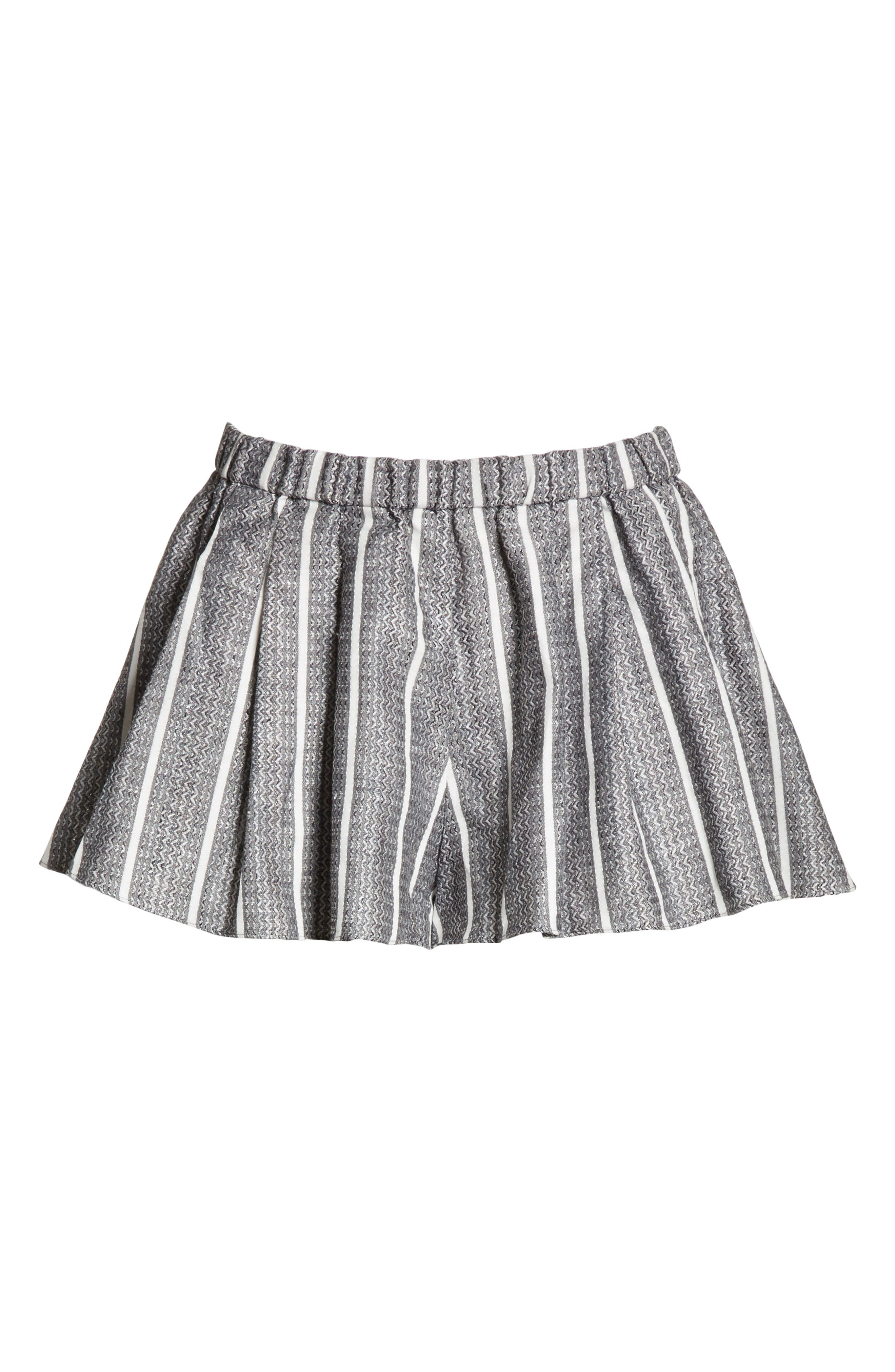 Pleated Shorts,                             Alternate thumbnail 6, color,                             001