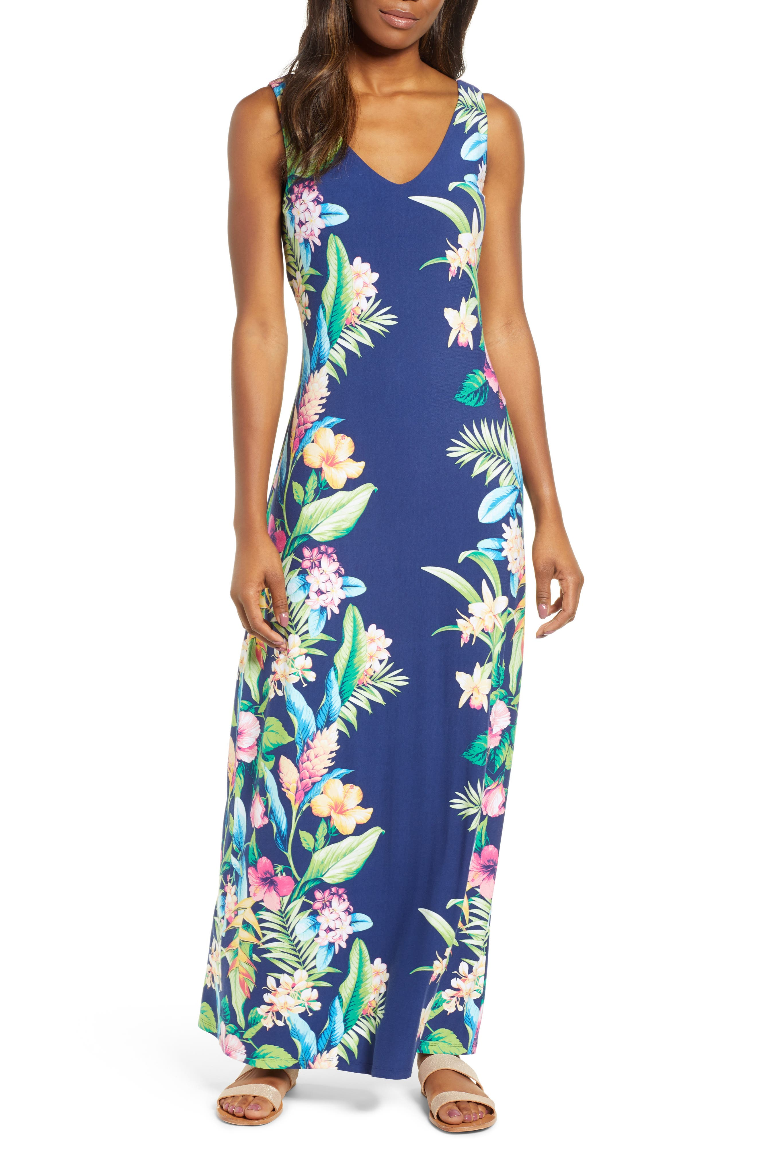 Tommy Bahama Tropicalia Maxi Dress, Blue