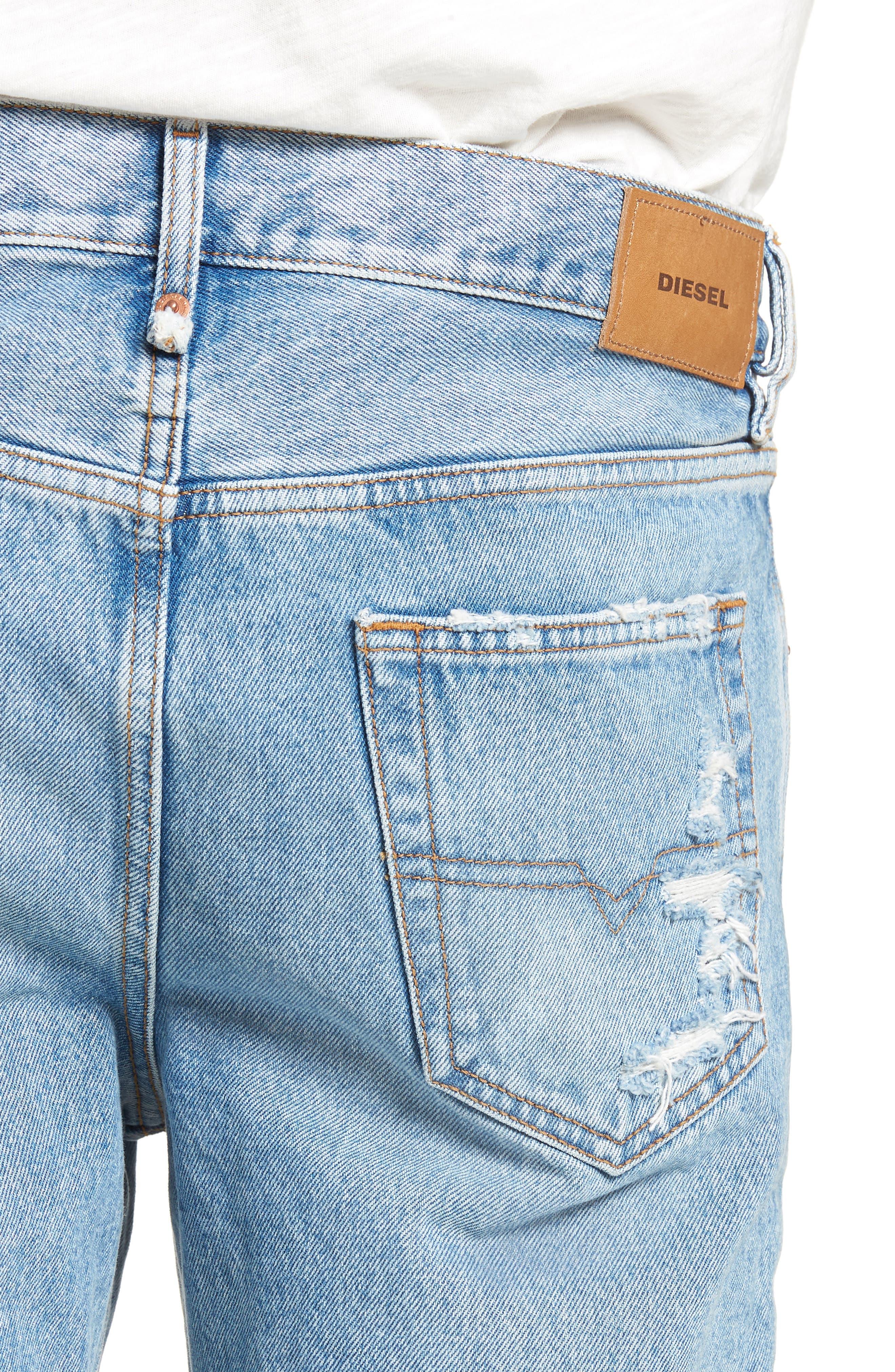 Mharky Slim Straight Leg Jeans,                             Alternate thumbnail 4, color,                             0076M