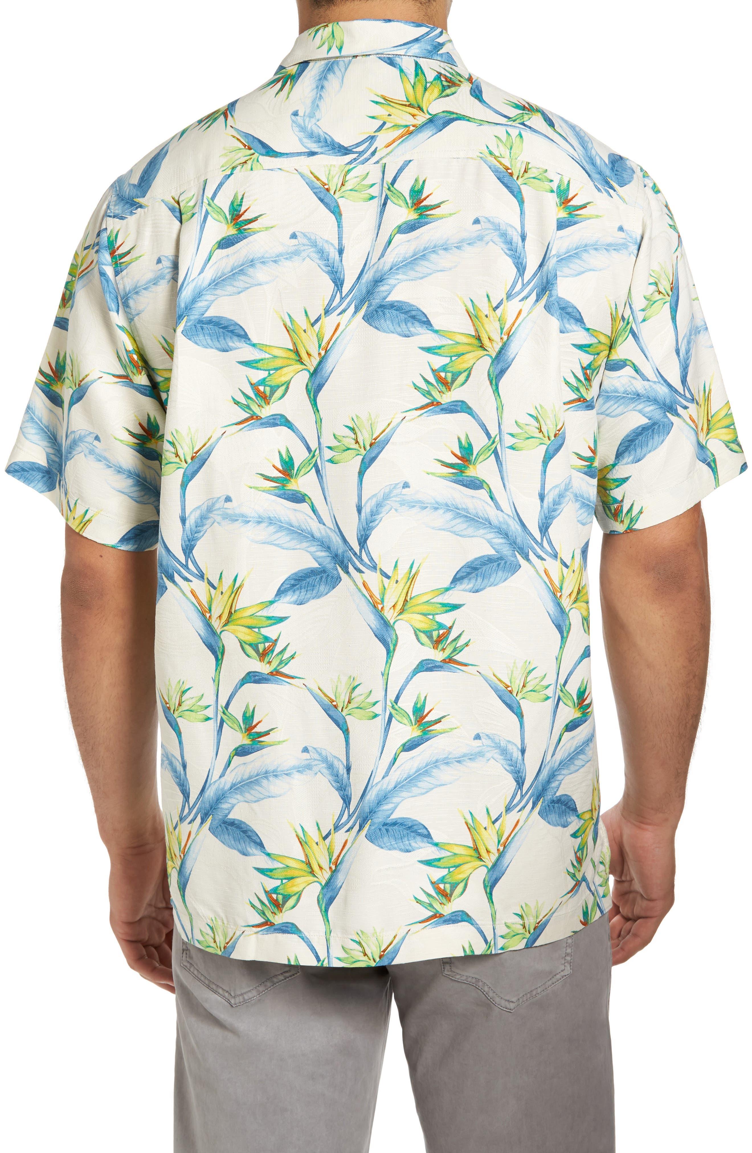 Porto de Paradise Silk Sport Shirt,                             Alternate thumbnail 2, color,                             100