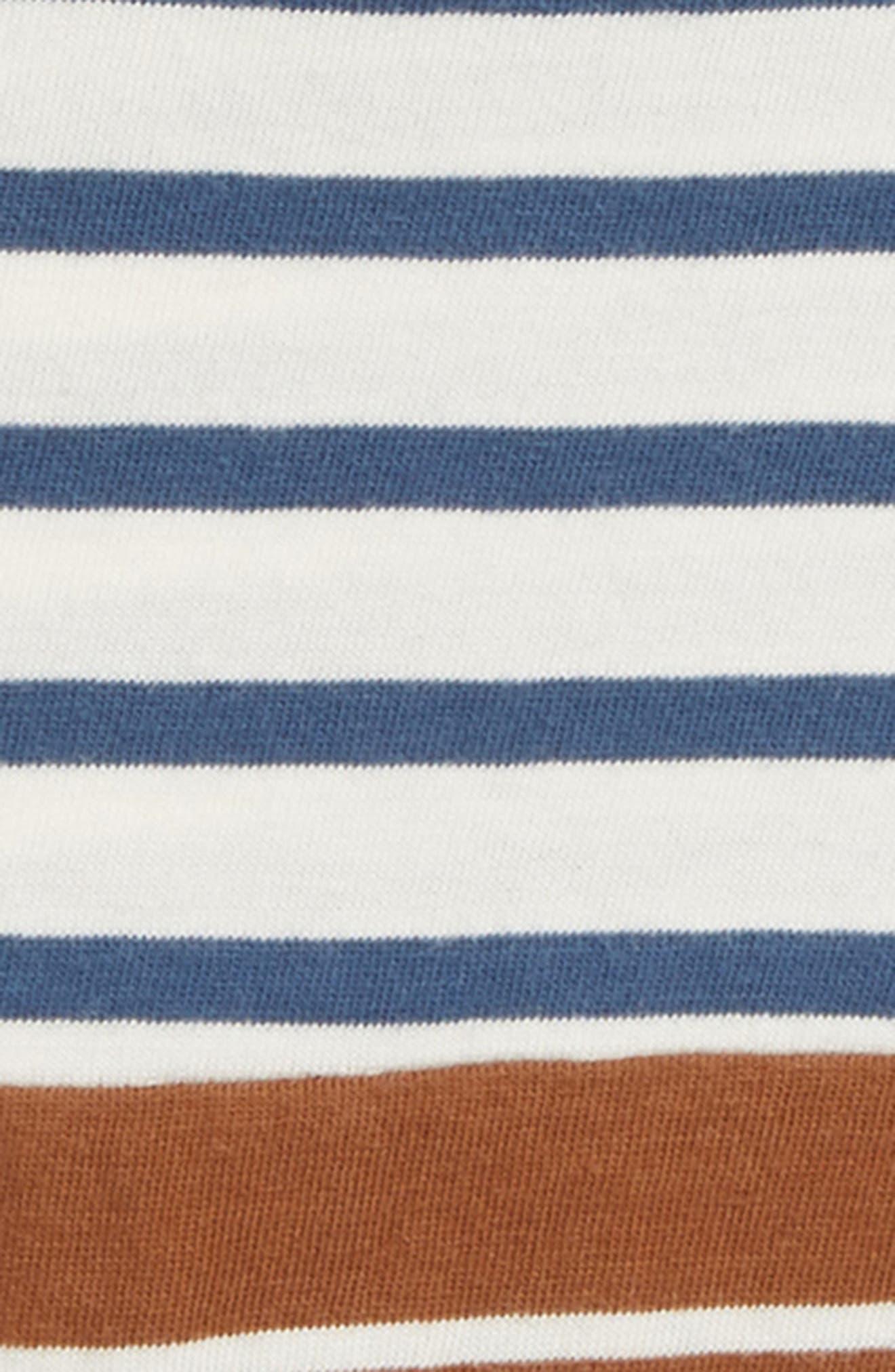 Pieced Stripe Shirt,                             Alternate thumbnail 2, color,                             IVORY EGRET- BROWN STRIPE