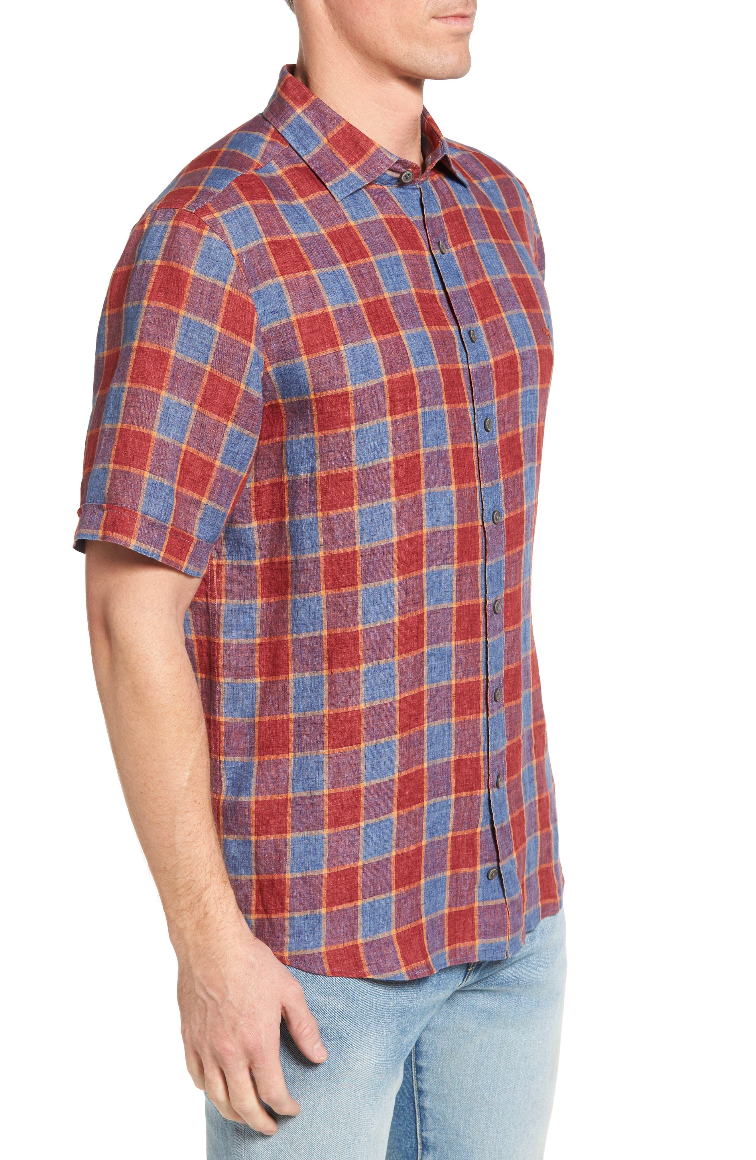 Mason Avenue Linen Sport Shirt,                             Alternate thumbnail 3, color,                             633