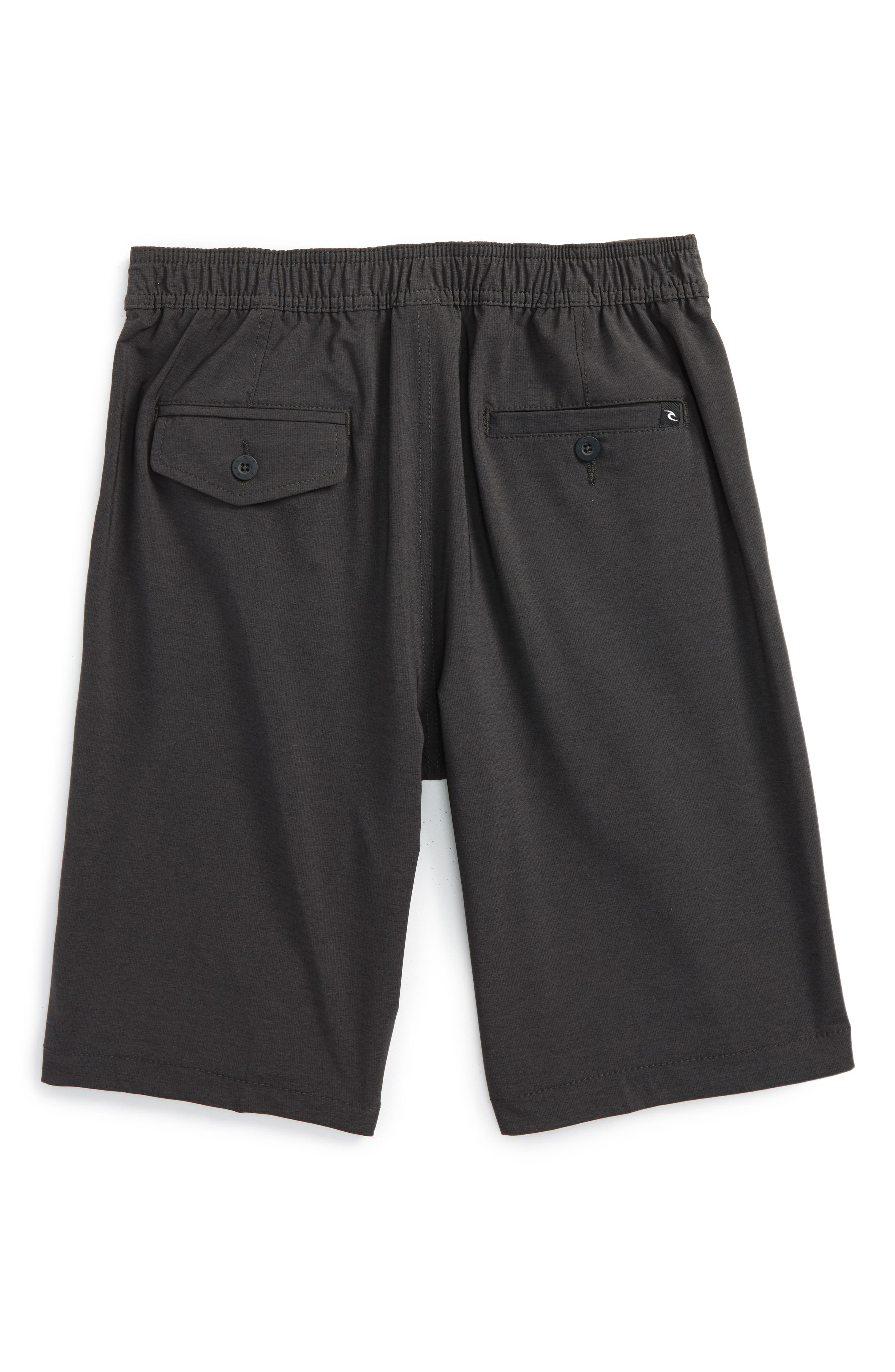 Omaha Hybrid Board Shorts,                             Main thumbnail 1, color,                             BLACK