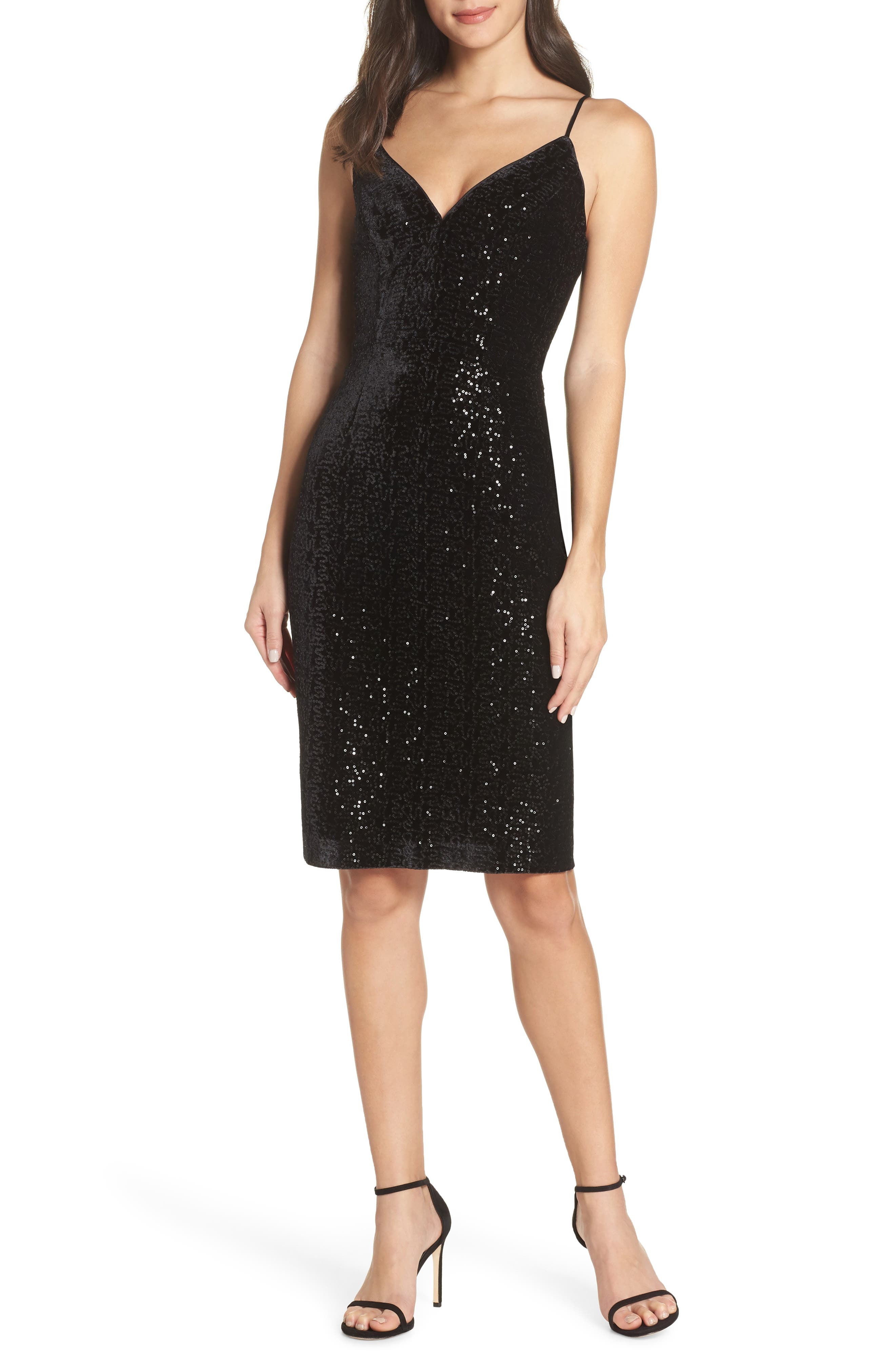 Chelsea28 Sequin Sheath Dress, Black