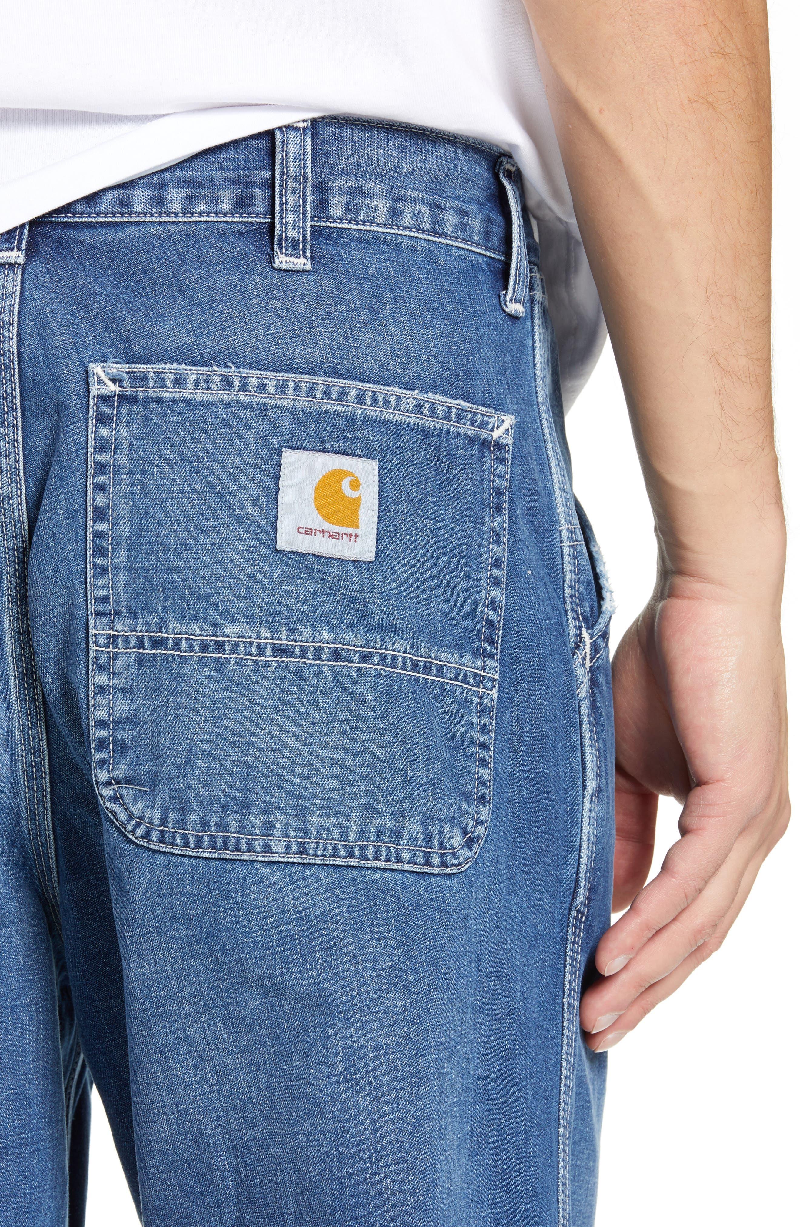 CARHARTT WORK IN PROGRESS,                             Simple Denim Jeans,                             Alternate thumbnail 4, color,                             BLUE