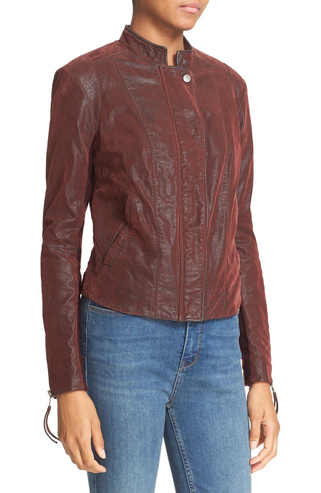 Faux Leather Jacket,                             Alternate thumbnail 33, color,
