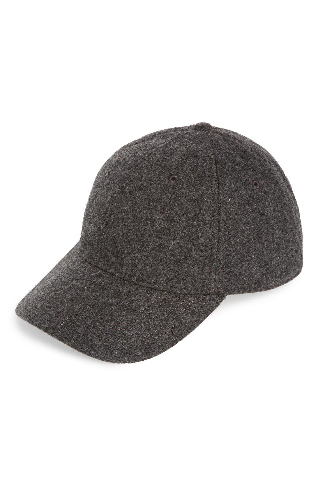 Wool Blend Baseball Cap, Main, color, 020