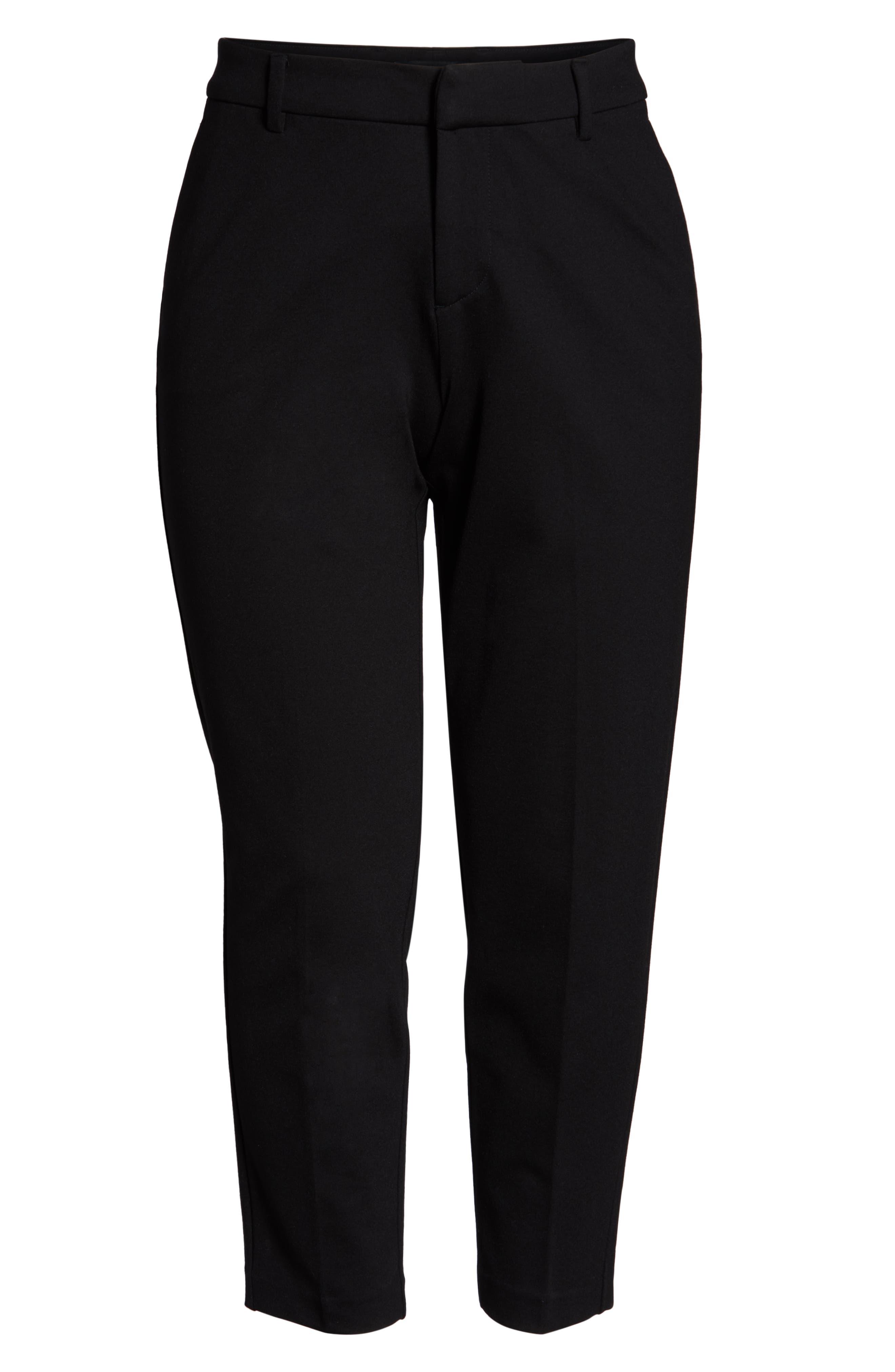 LIVERPOOL,                             Kelsey Ponte Knit Trousers,                             Alternate thumbnail 4, color,                             BLACK