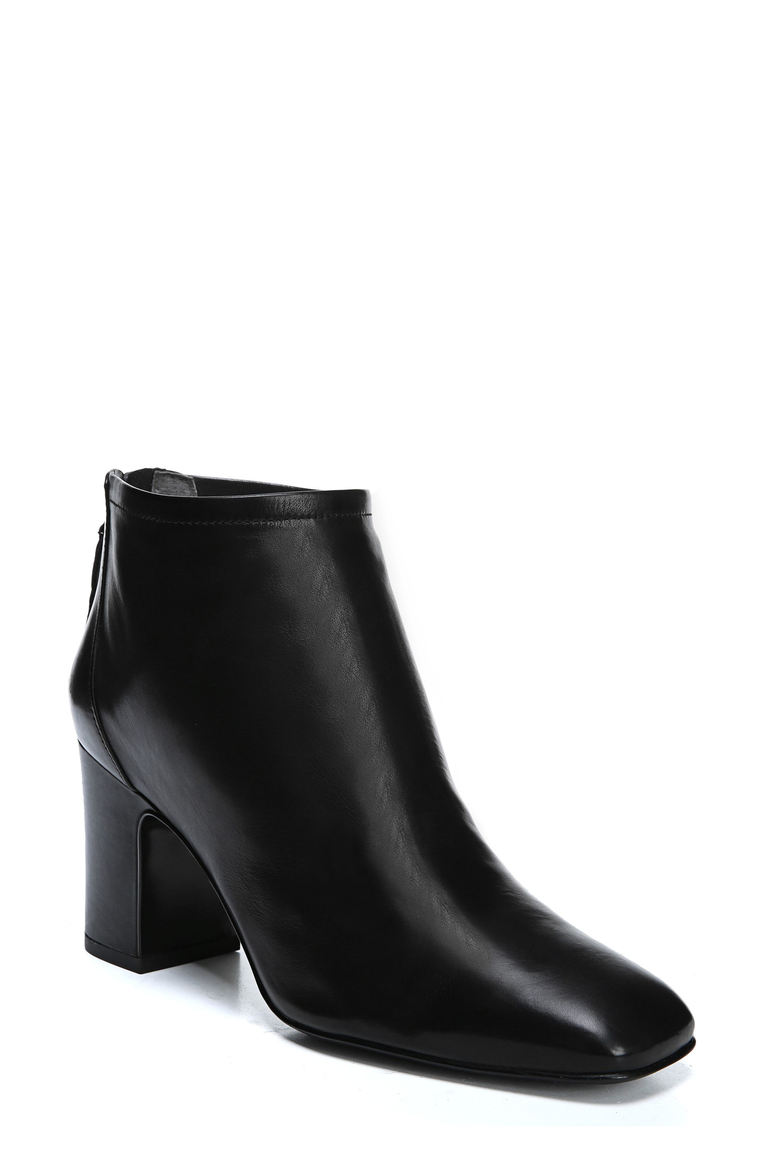 Jacoby Bootie,                             Main thumbnail 1, color,                             BLACK STRETCH LEATHER