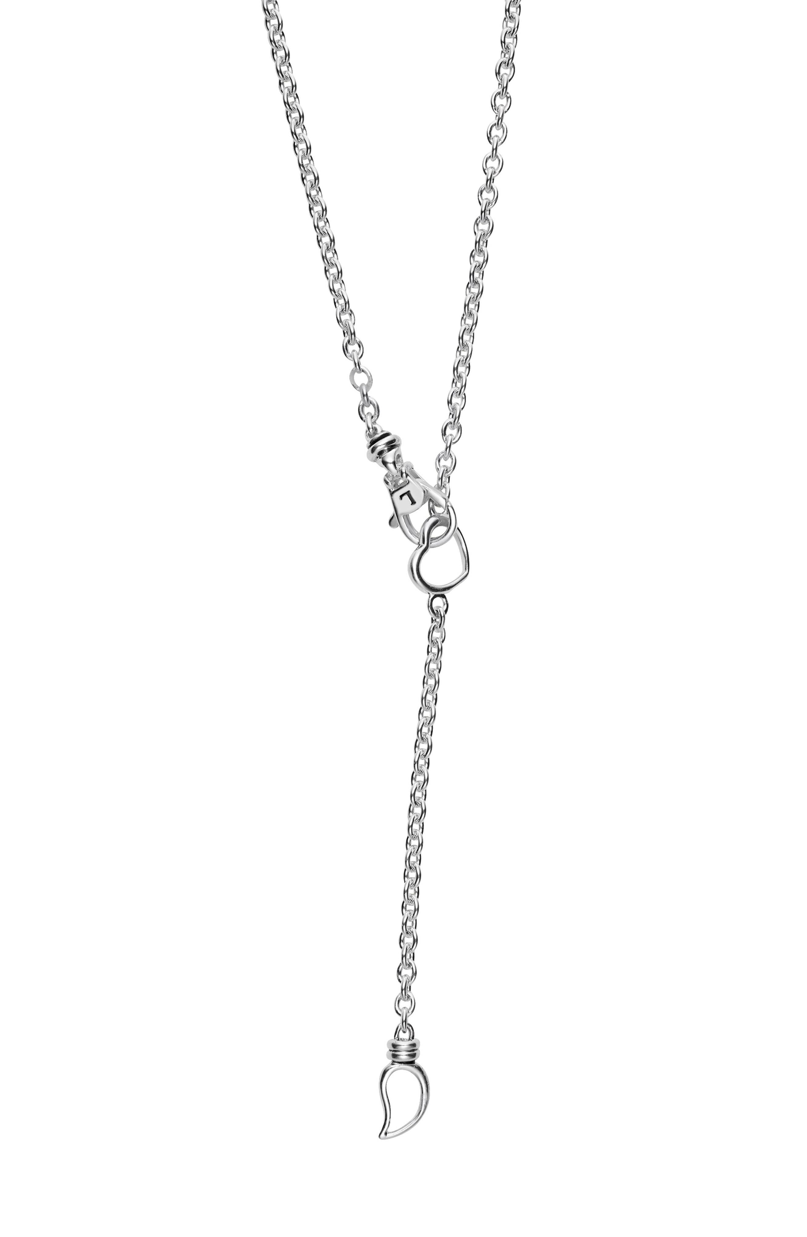 Beloved Diamond XOXO Chain Necklace,                             Alternate thumbnail 4, color,                             SILVER/ DIAMOND