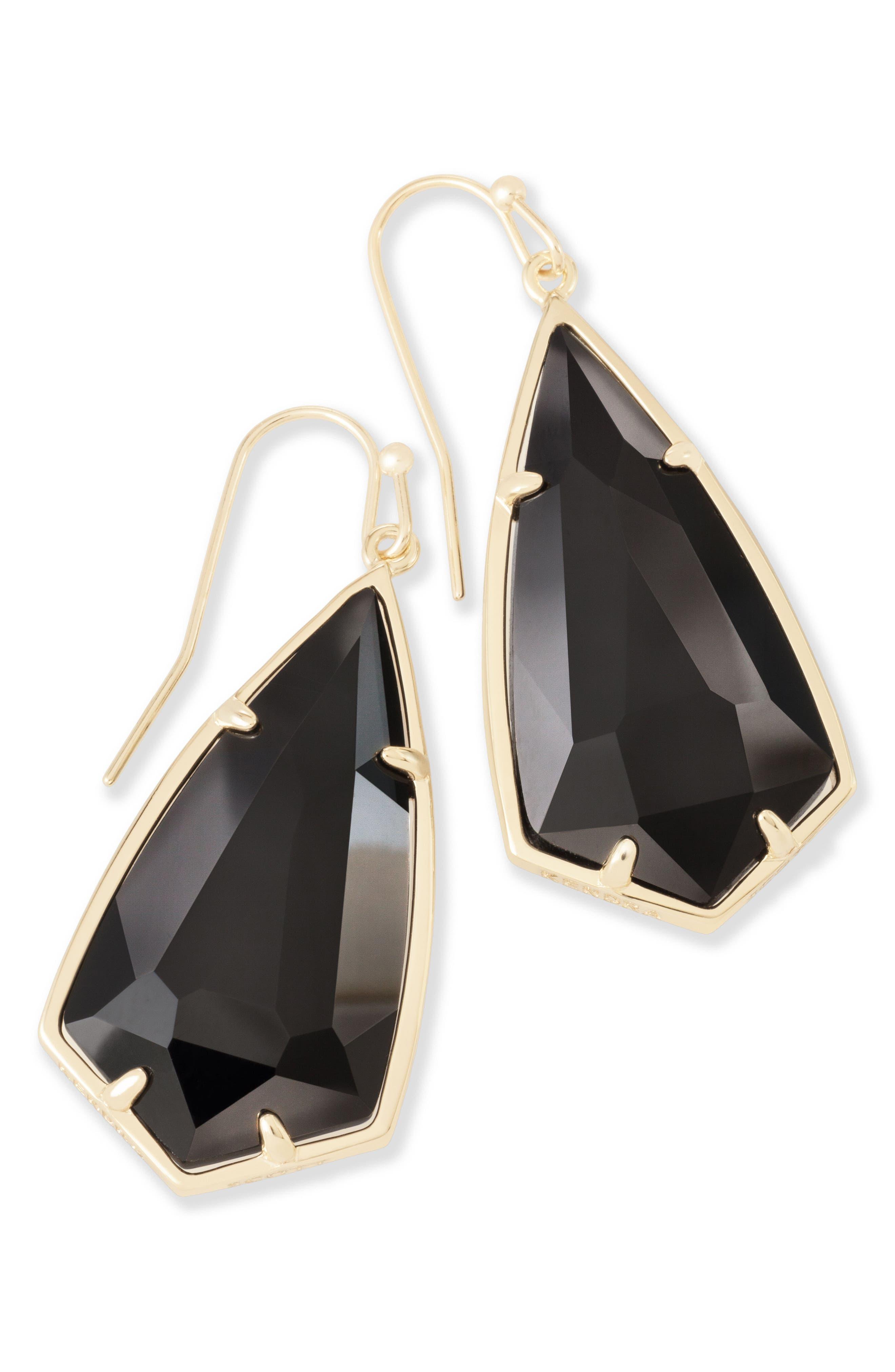Carla Semiprecious Stone Drop Earrings,                             Alternate thumbnail 4, color,                             003