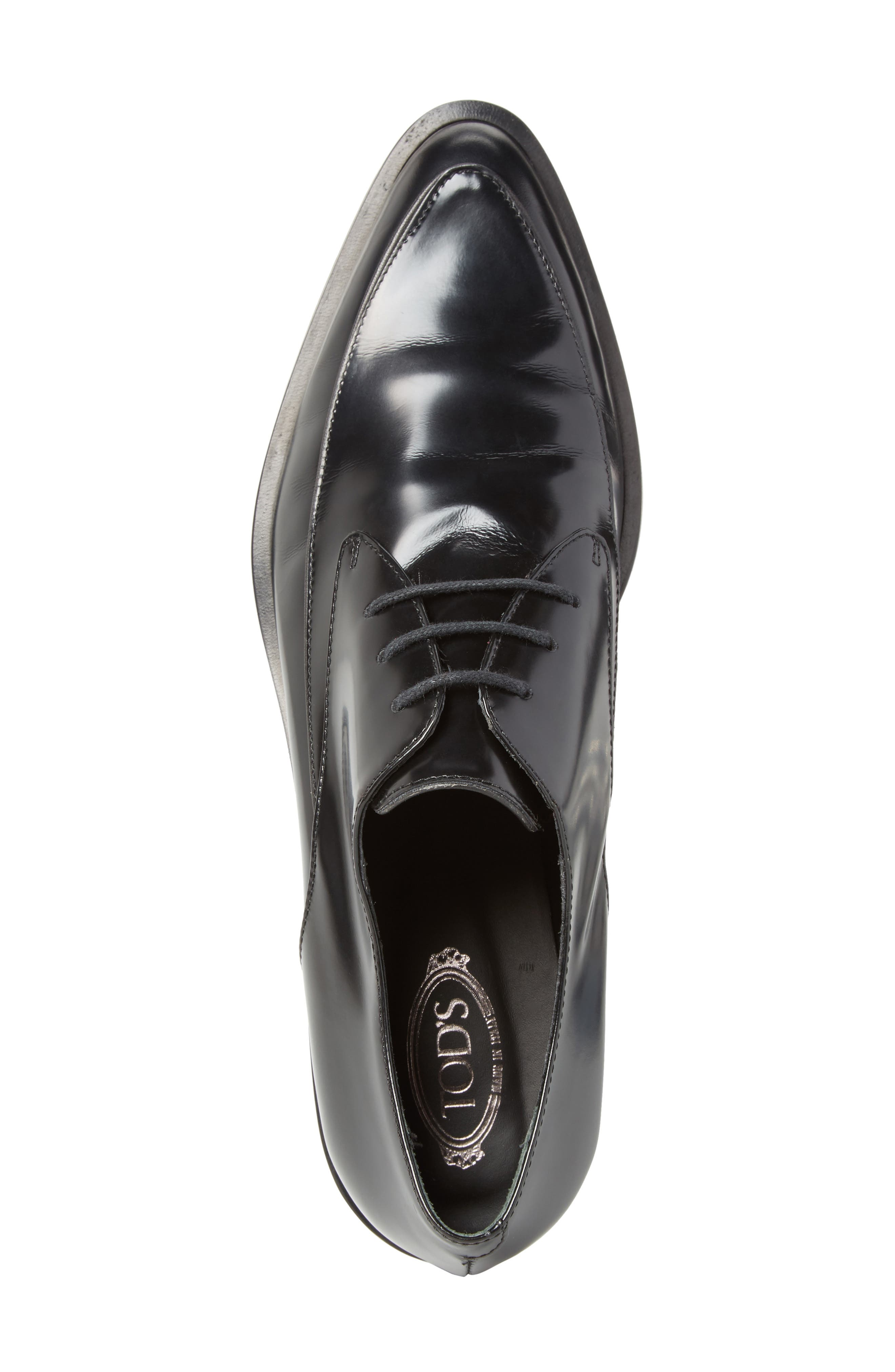 Pointy Toe Oxford,                             Alternate thumbnail 5, color,                             001