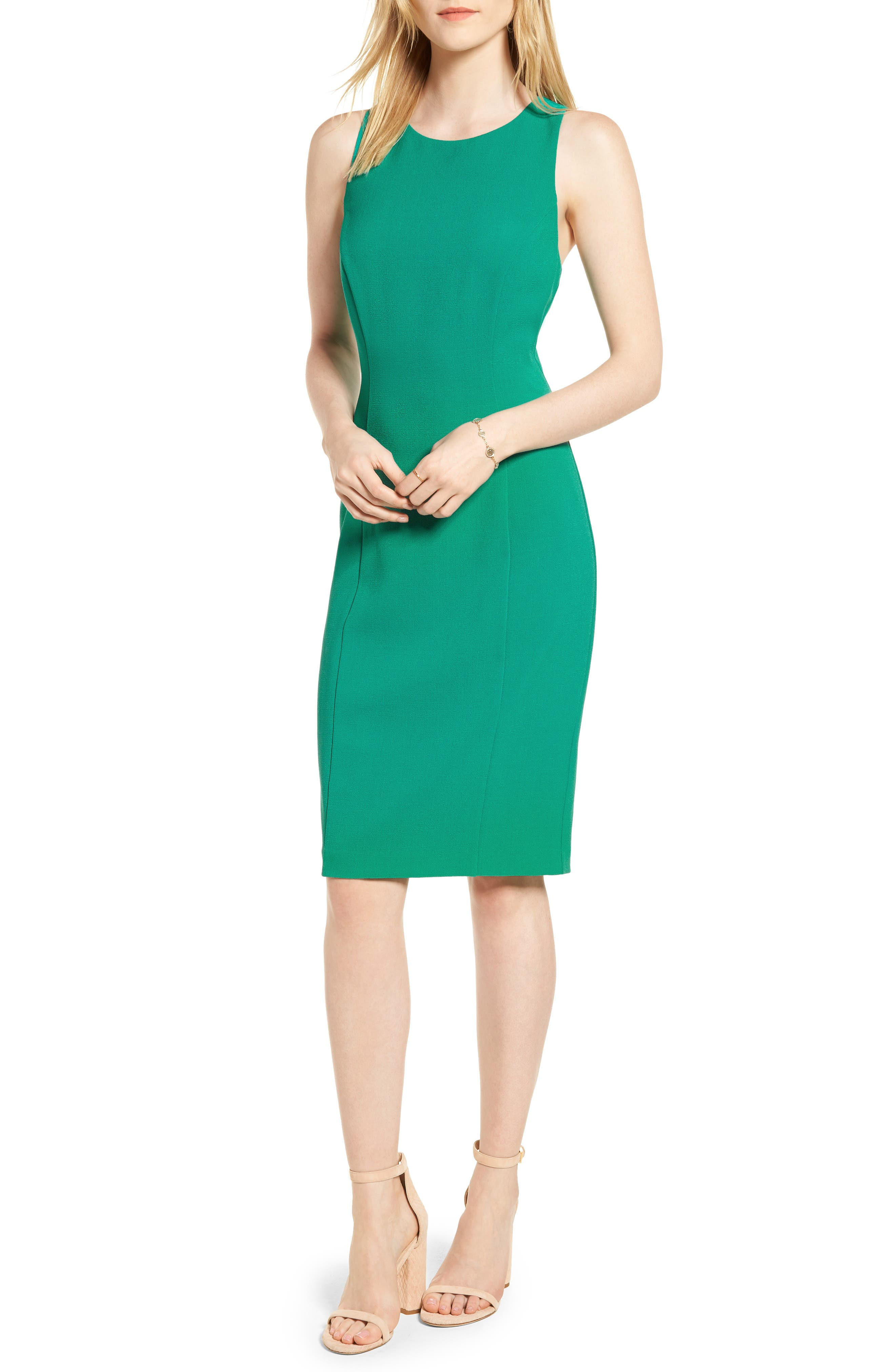 Bow Back Sheath Dress,                             Main thumbnail 2, color,